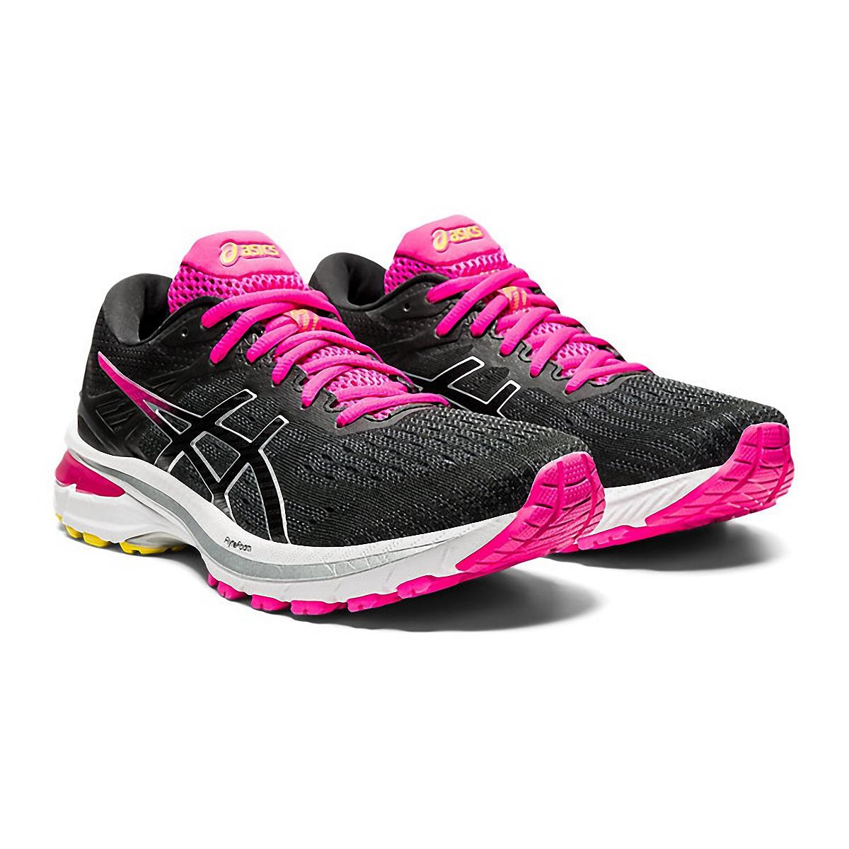 Women's Asics GT-2000 9 Running Shoe - Color: Graphite Grey/Black - Size: 5 - Width: Regular, Graphite Grey/Black, large, image 4