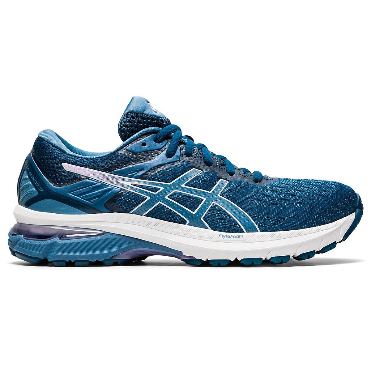 Women's Asics Gt-2000 9 Running Shoe - Color: Mako Blue/Grey Floss - Size: 5 - Width: Regular, Mako Blue/Grey Floss, large, image 1