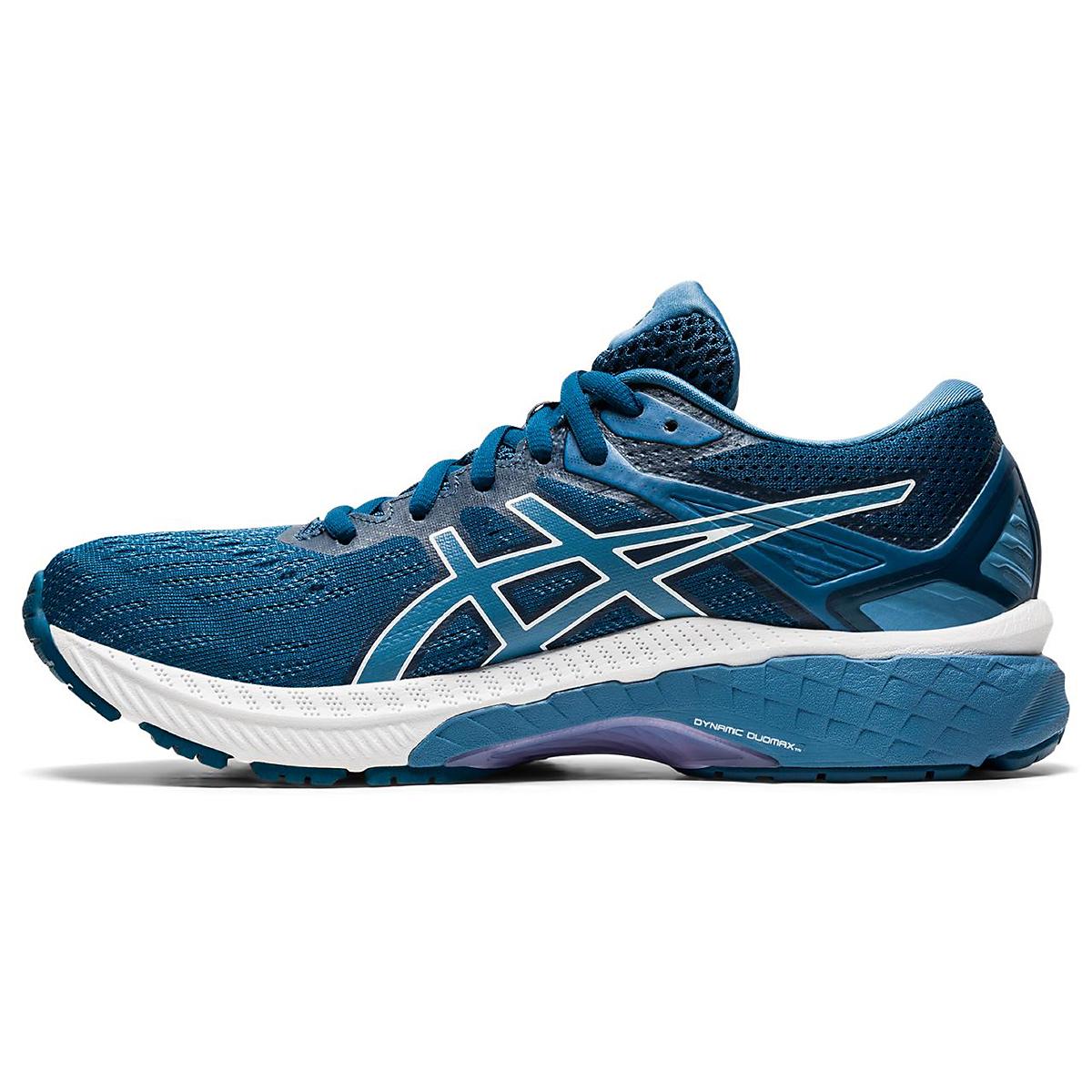 Women's Asics Gt-2000 9 Running Shoe - Color: Mako Blue/Grey Floss - Size: 5 - Width: Regular, Mako Blue/Grey Floss, large, image 2