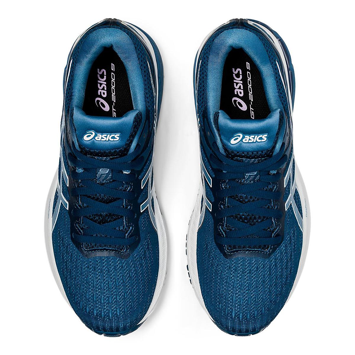 Women's Asics Gt-2000 9 Running Shoe - Color: Mako Blue/Grey Floss - Size: 5 - Width: Regular, Mako Blue/Grey Floss, large, image 3