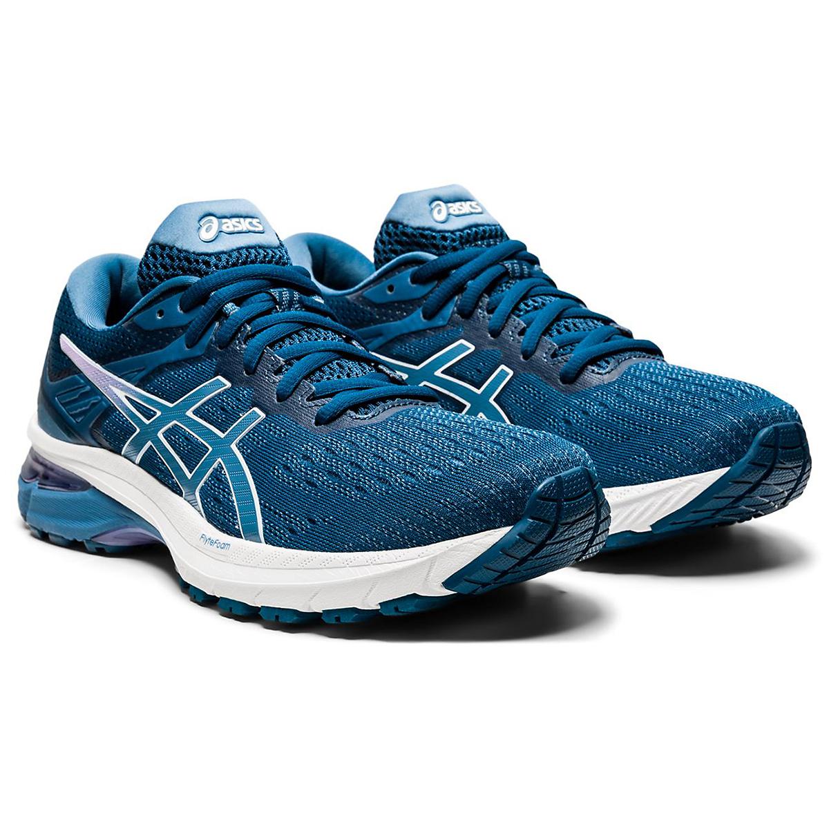 Women's Asics Gt-2000 9 Running Shoe - Color: Mako Blue/Grey Floss - Size: 5 - Width: Regular, Mako Blue/Grey Floss, large, image 5
