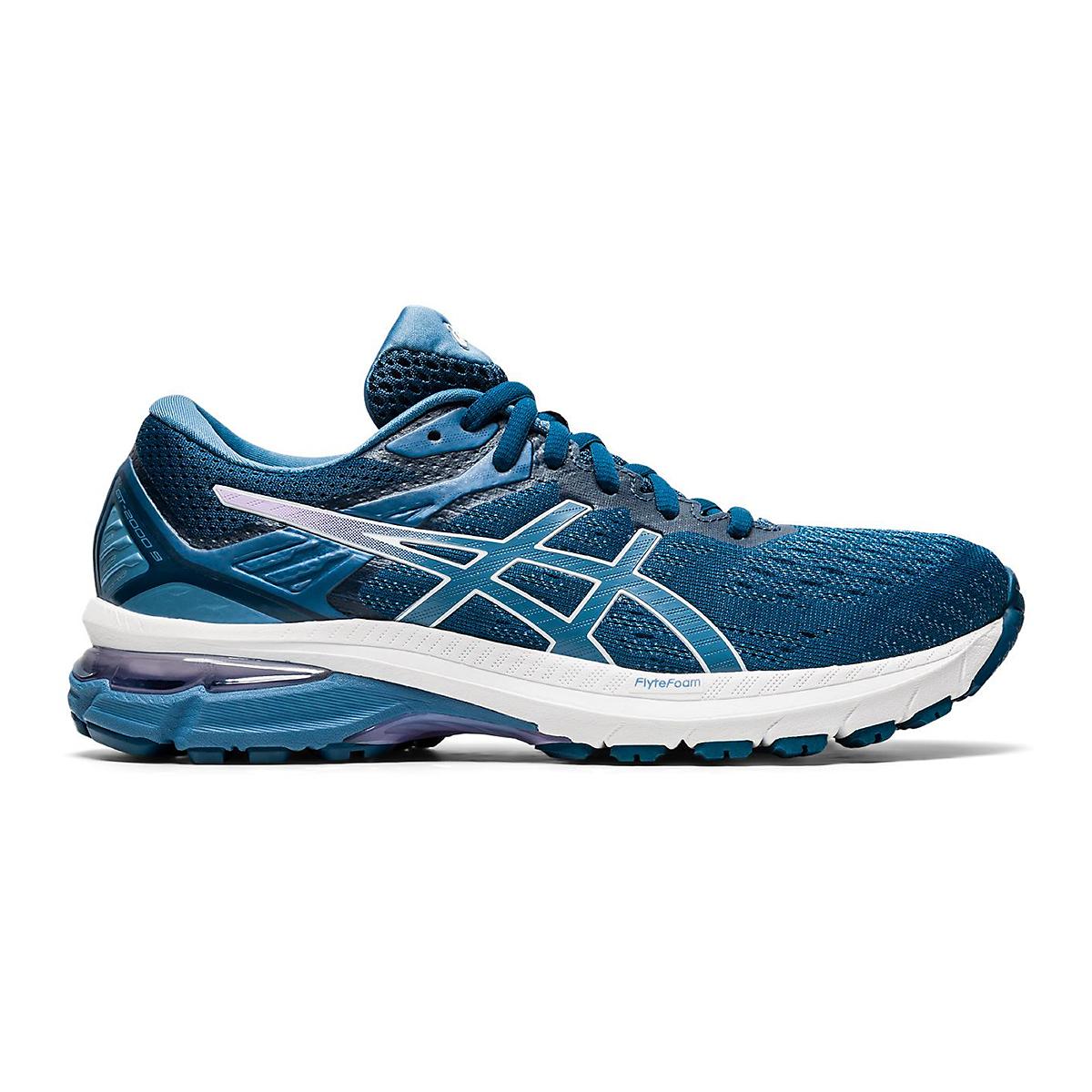 Women's Asics Gt-2000 9 Running Shoe - Color: Mako Blue/Grey - Size: 6 - Width: Wide, Mako Blue/Grey, large, image 1