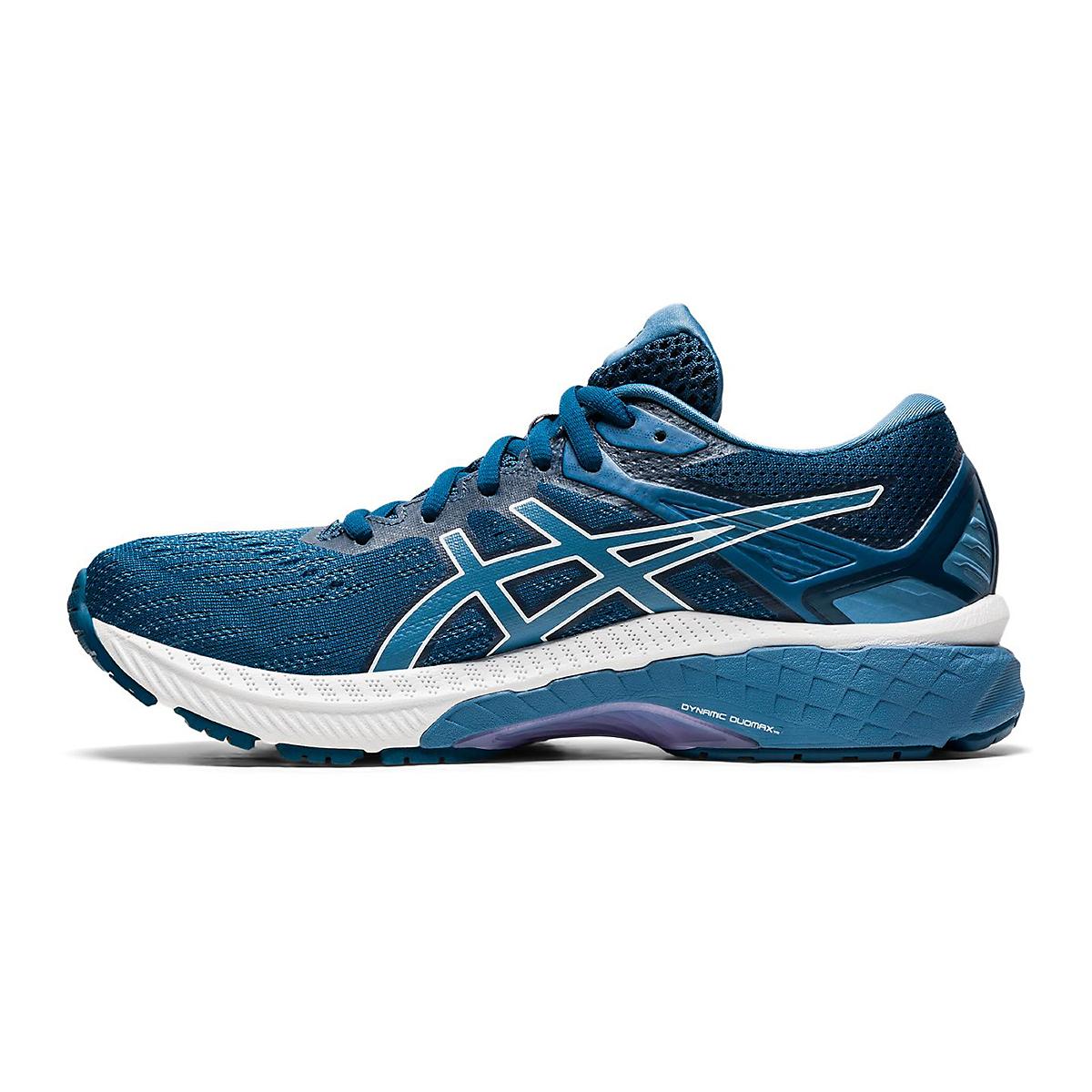 Women's Asics Gt-2000 9 Running Shoe - Color: Mako Blue/Grey - Size: 6 - Width: Wide, Mako Blue/Grey, large, image 2
