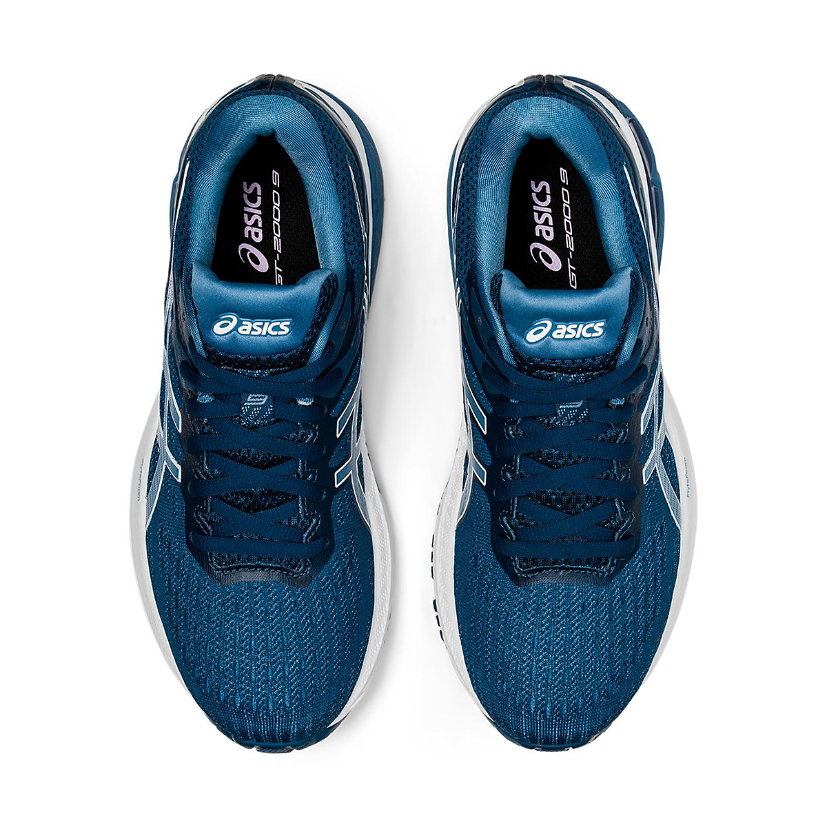 Women's Asics Gt-2000 9 Running Shoe - Color: Mako Blue/Grey - Size: 6 - Width: Wide, Mako Blue/Grey, large, image 3