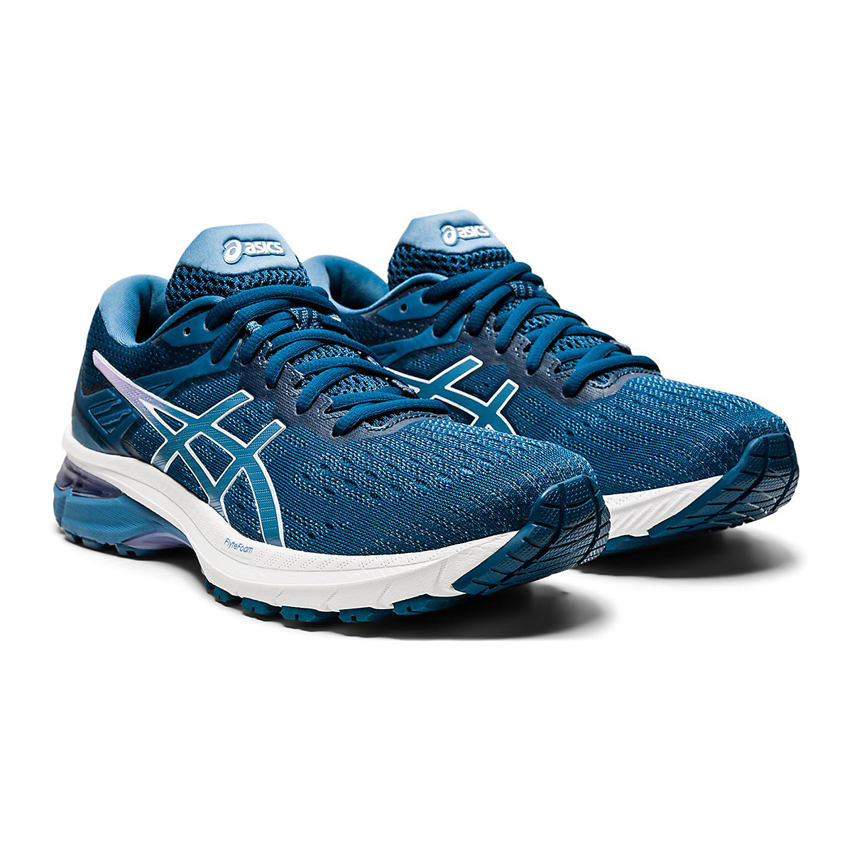 Women's Asics Gt-2000 9 Running Shoe - Color: Mako Blue/Grey - Size: 6 - Width: Wide, Mako Blue/Grey, large, image 4