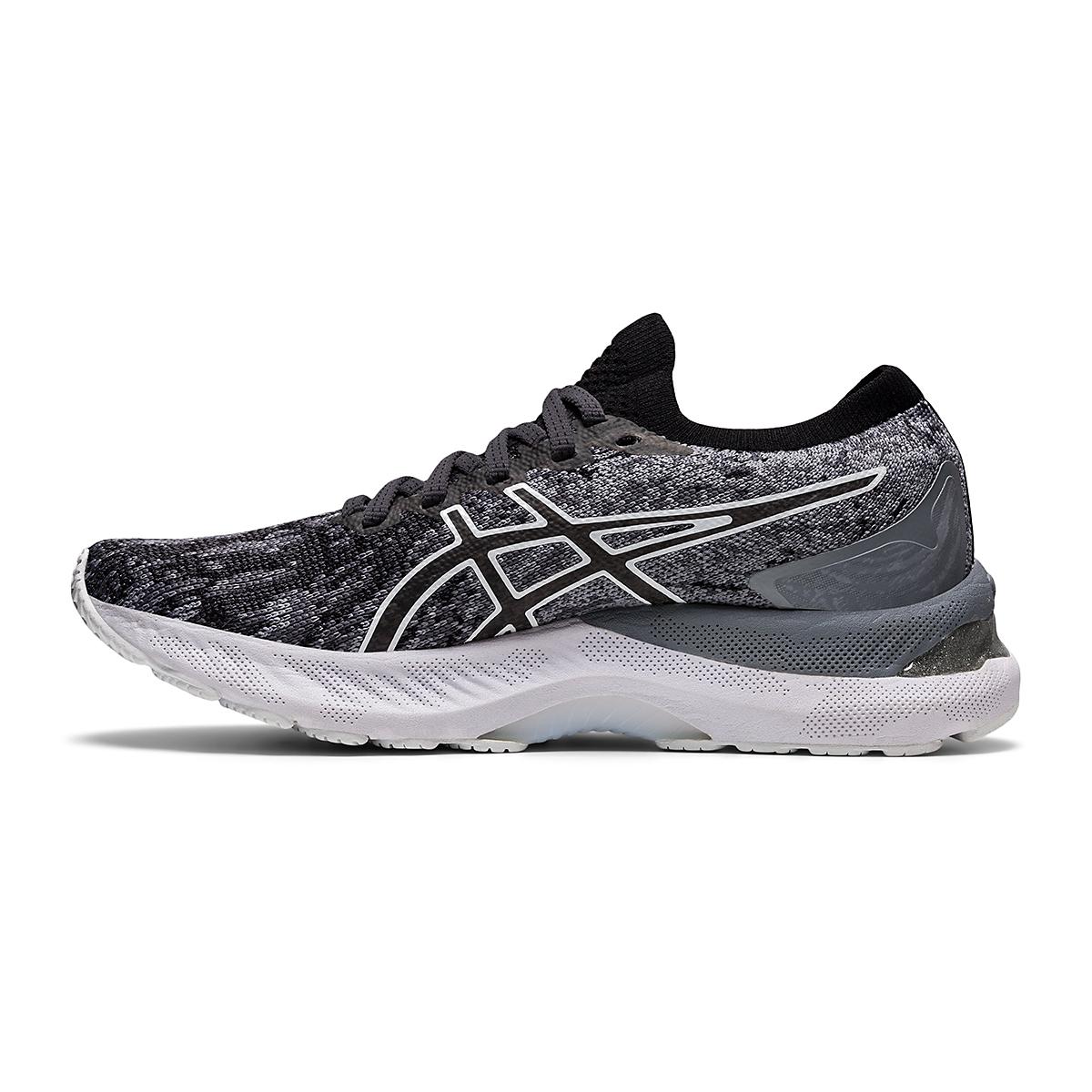 Women's Asics Gel-Nimbus 23 Knit Running Shoe - Color: Sheet Rock/Black - Size: 5 - Width: Regular, Sheet Rock/Black, large, image 2