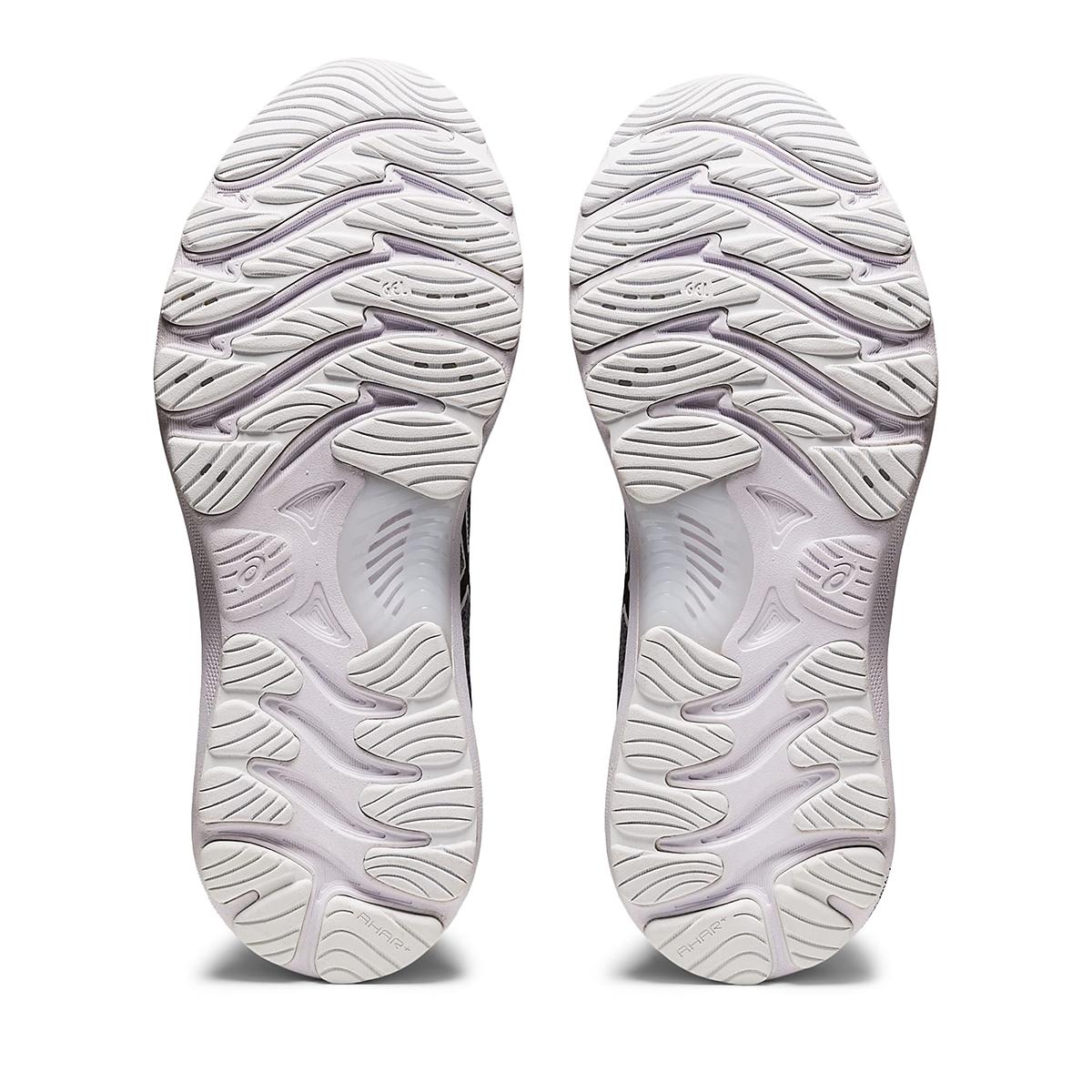 Women's Asics Gel-Nimbus 23 Knit Running Shoe - Color: Sheet Rock/Black - Size: 5 - Width: Regular, Sheet Rock/Black, large, image 4