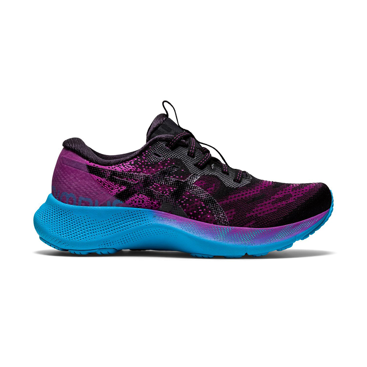 Women's Asics Gel-Nimbus Lite 2 Running Shoe - Color: Digital Grape/Black - Size: 5 - Width: Regular, Digital Grape/Black, large, image 1