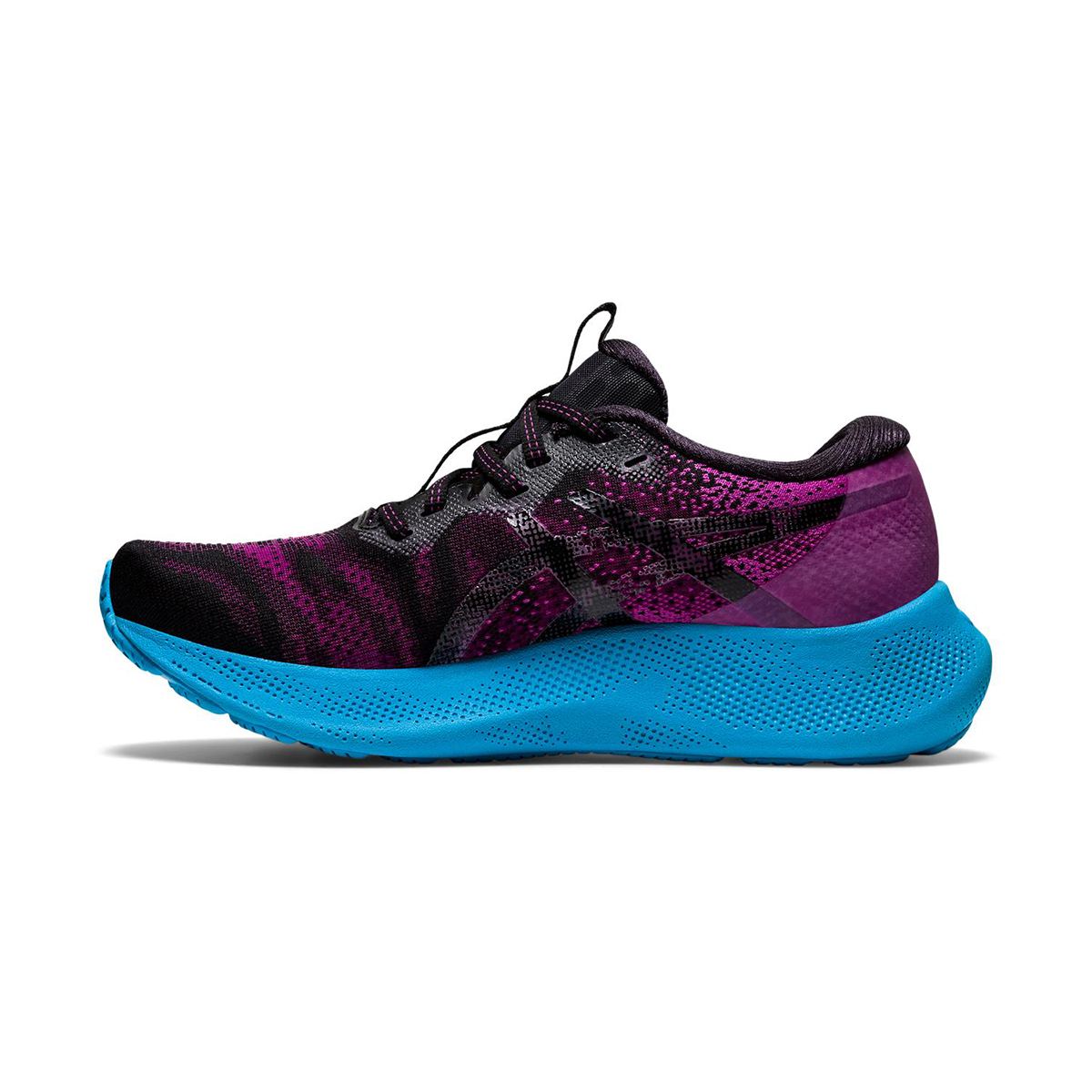 Women's Asics Gel-Nimbus Lite 2 Running Shoe - Color: Digital Grape/Black - Size: 5 - Width: Regular, Digital Grape/Black, large, image 2