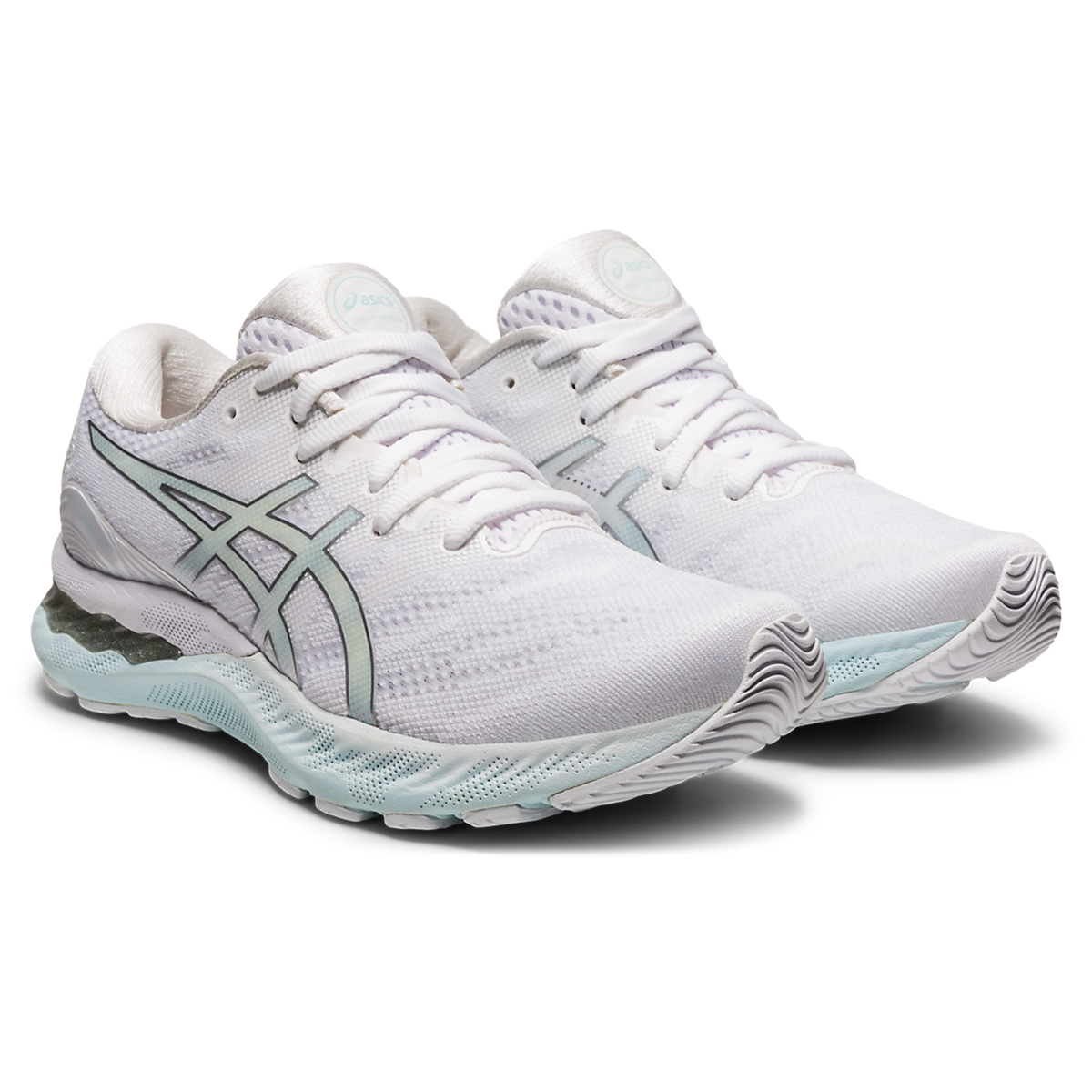 Women's Asics Gel-Nimbus 23 Running Shoe - Color: White/Pure Silver - Size: 5 - Width: Regular, White/Pure Silver, large, image 4