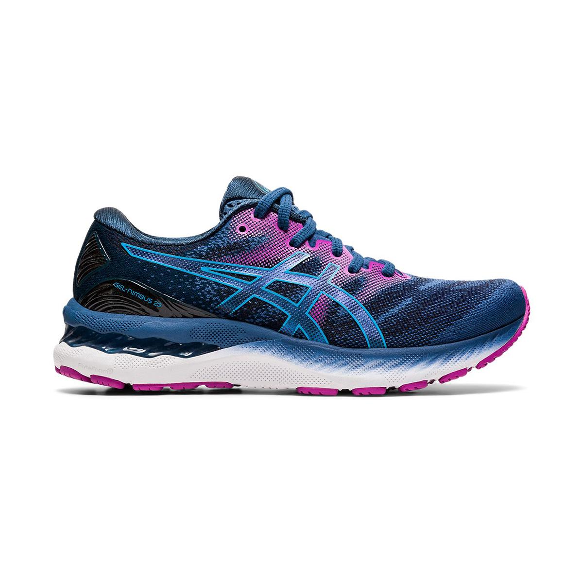 Women's Asics GEL-Nimbus 23 Running Shoe - Color: Grand Shark/Digital Aqua - Size: 5 - Width: Regular, Grand Shark/Digital Aqua, large, image 1