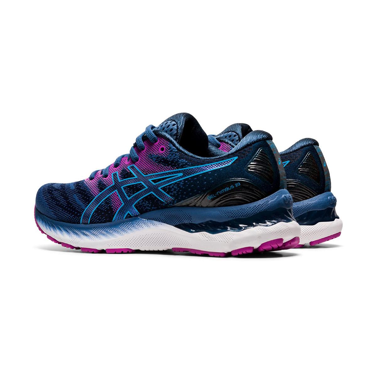 Women's Asics GEL-Nimbus 23 Running Shoe - Color: Grand Shark/Digital Aqua - Size: 5 - Width: Regular, Grand Shark/Digital Aqua, large, image 2