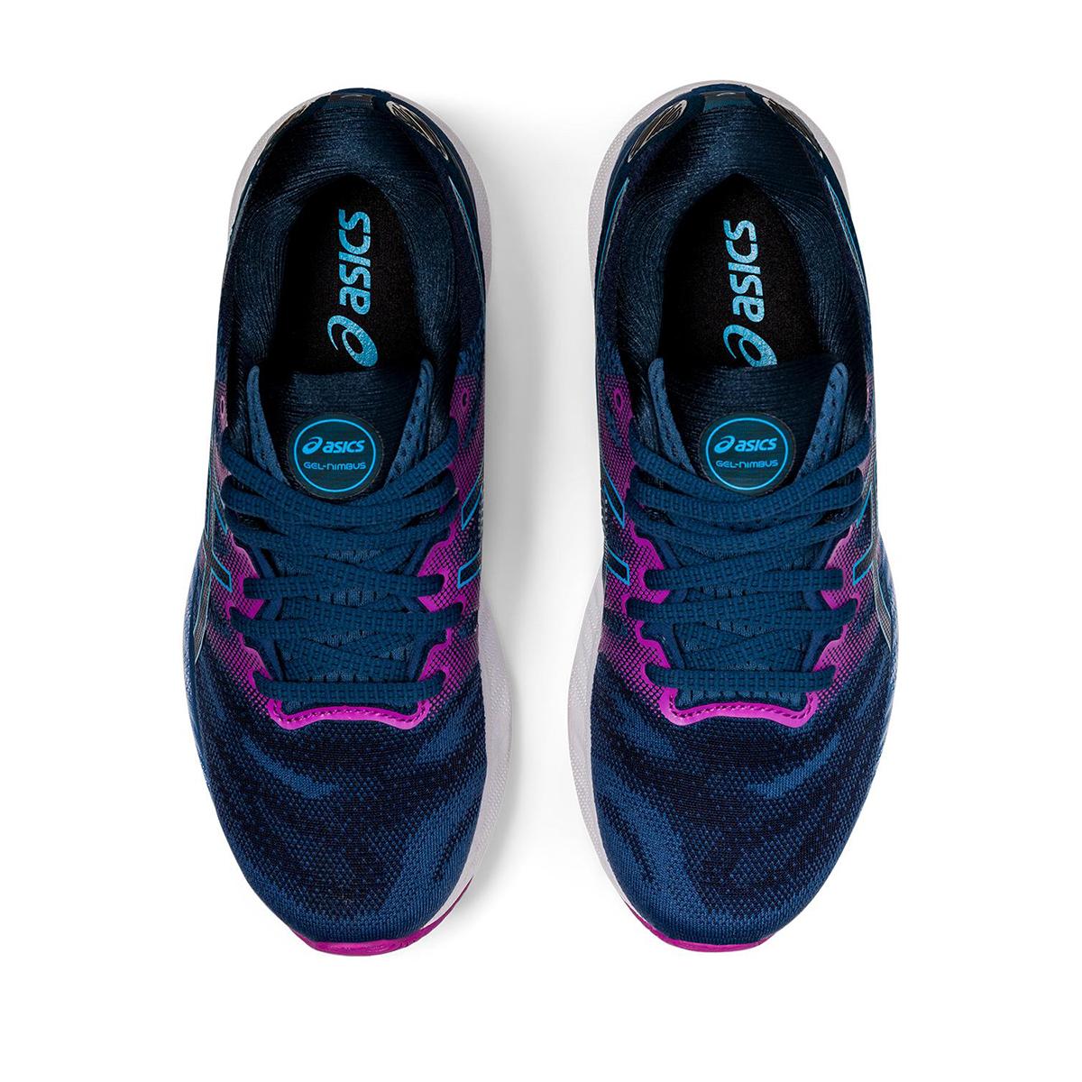 Women's Asics GEL-Nimbus 23 Running Shoe - Color: Grand Shark/Digital Aqua - Size: 5 - Width: Regular, Grand Shark/Digital Aqua, large, image 3