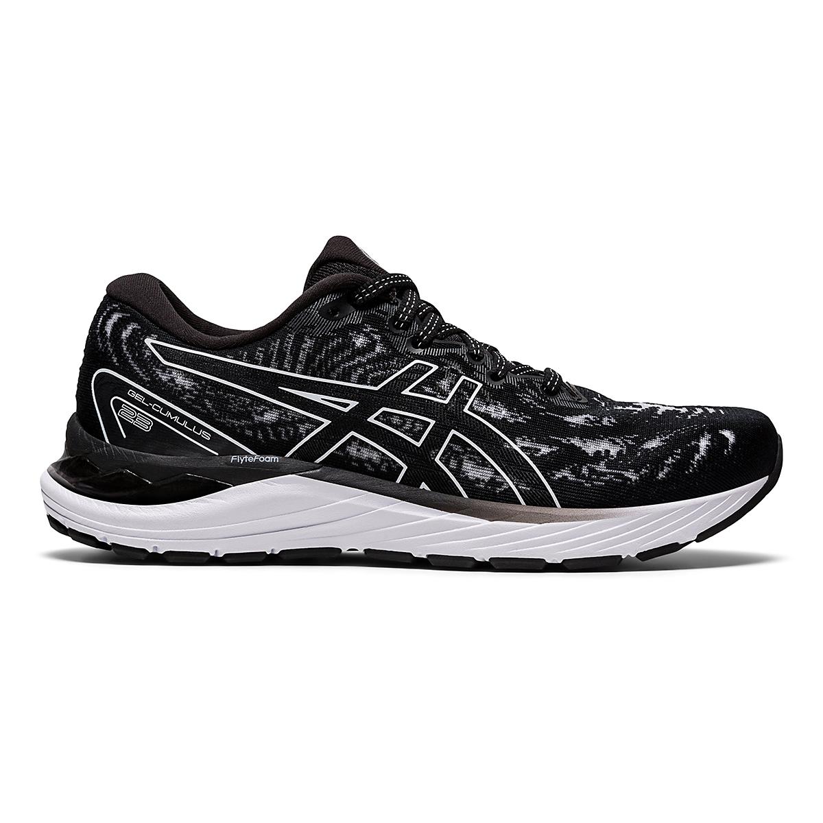 Women's Asics Gel-Cumulus 23 Running Shoe - Color: Black/White - Size: 5 - Width: Regular, Black/White, large, image 1