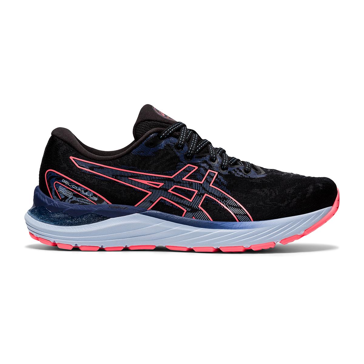 Women's Asics Gel-Cumulus 23 Running Shoe - Color: Black/Blazing Coral - Size: 5 - Width: Regular, Black/Blazing Coral, large, image 1