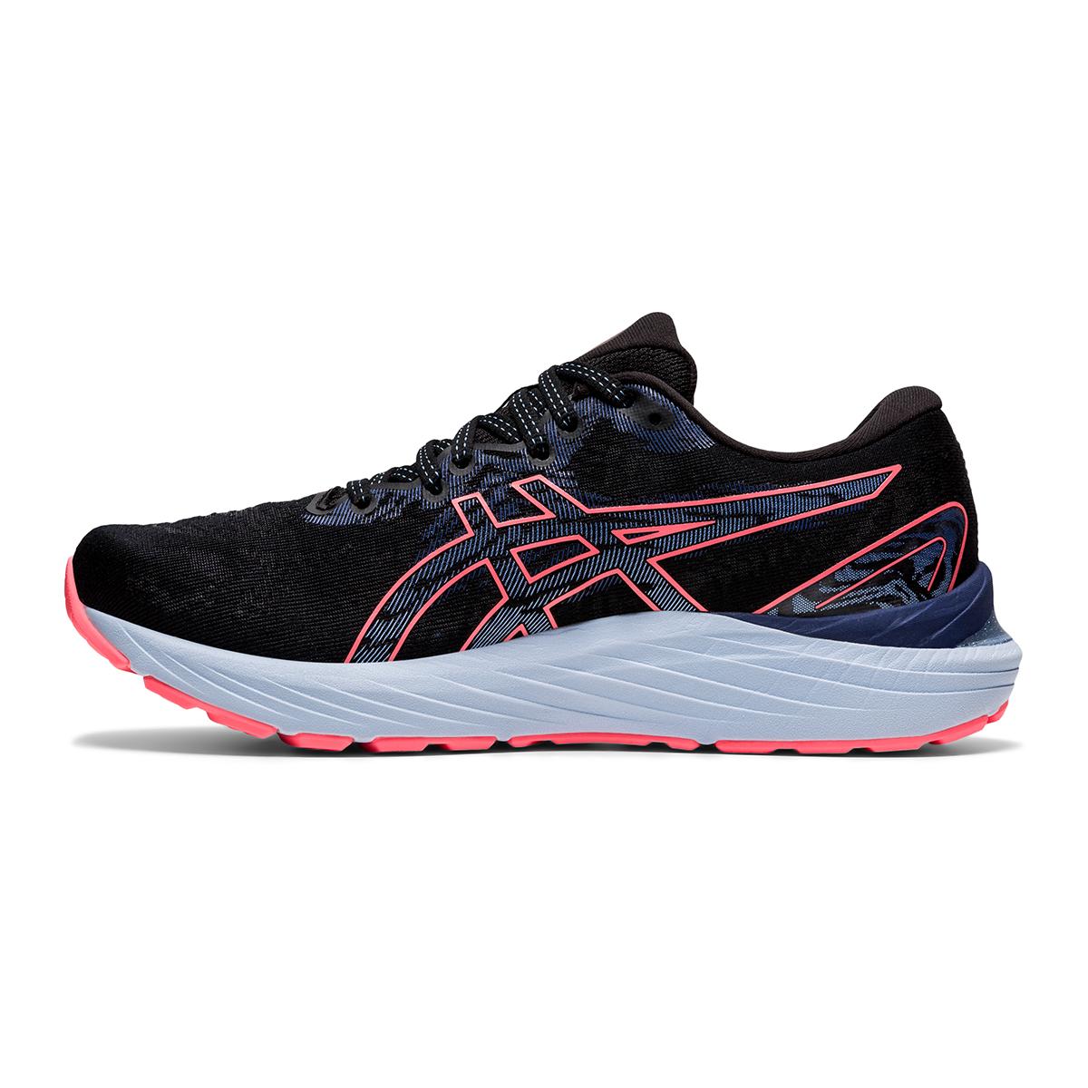 Women's Asics Gel-Cumulus 23 Running Shoe - Color: Black/Blazing Coral - Size: 5 - Width: Regular, Black/Blazing Coral, large, image 2