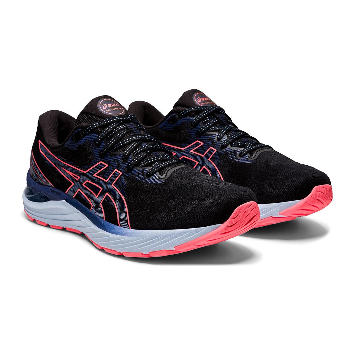 Women's Asics Gel-Cumulus 23 Running Shoe - Color: Black/Blazing Coral - Size: 5 - Width: Regular, Black/Blazing Coral, large, image 3