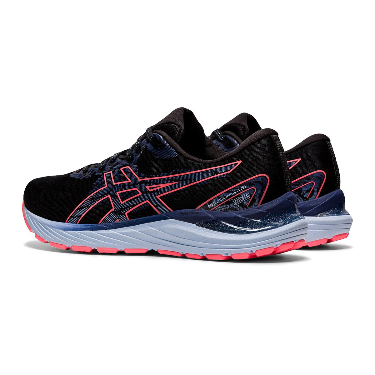 Women's Asics Gel-Cumulus 23 Running Shoe - Color: Black/Blazing Coral - Size: 5 - Width: Regular, Black/Blazing Coral, large, image 4