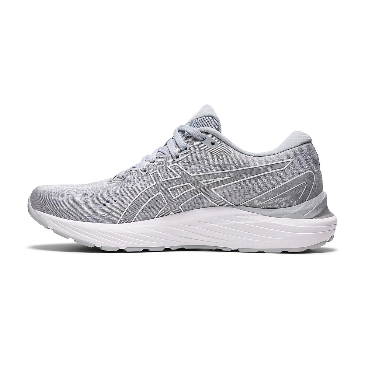 Women's Asics Gel-Cumulus 23 Running Shoe - Color: Piedmont Grey/White - Size: 5 - Width: Regular, Piedmont Grey/White, large, image 2