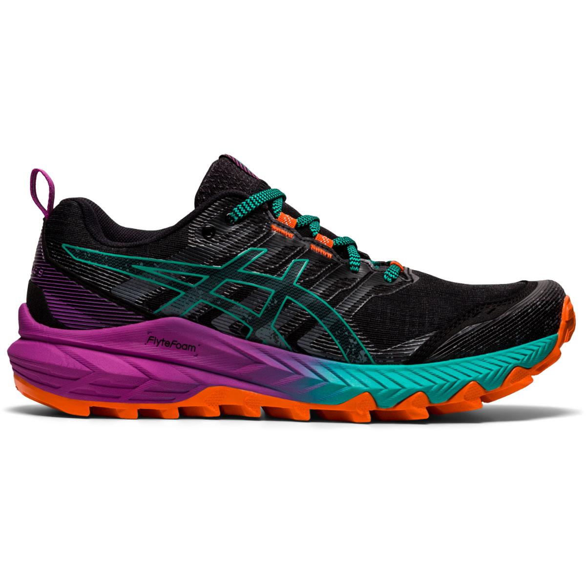 Women's Asics Gel-Trabuco 9 Running Shoe - Color: Black/Baltic Jewel - Size: 5 - Width: Regular, Black/Baltic Jewel, large, image 1