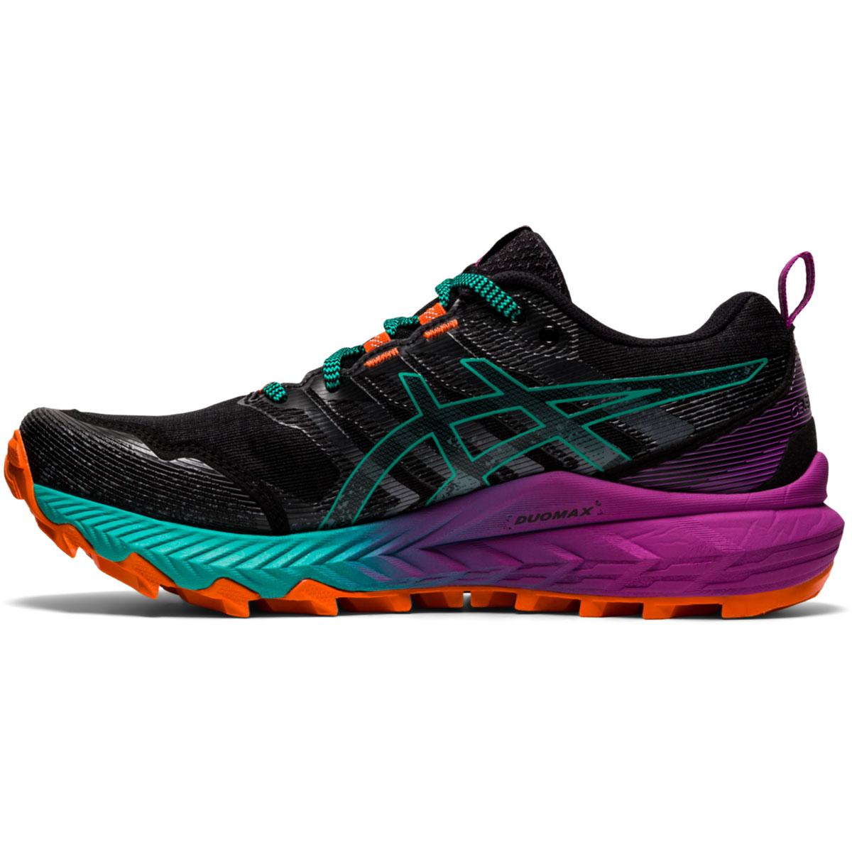 Women's Asics Gel-Trabuco 9 Running Shoe - Color: Black/Baltic Jewel - Size: 5 - Width: Regular, Black/Baltic Jewel, large, image 2