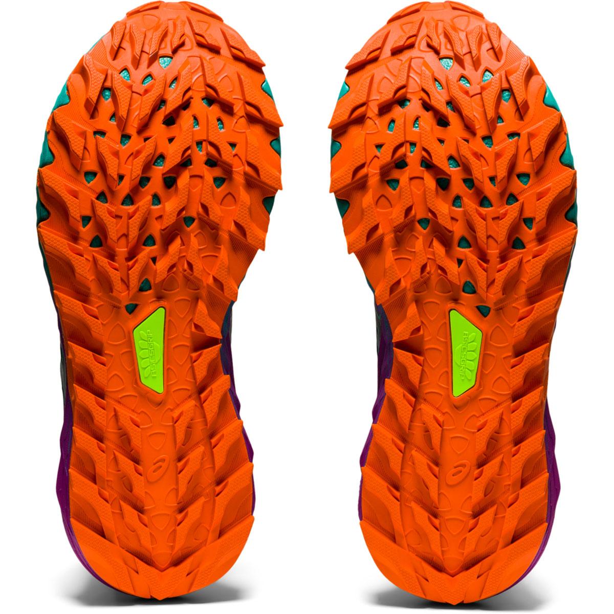 Women's Asics Gel-Trabuco 9 Running Shoe - Color: Black/Baltic Jewel - Size: 5 - Width: Regular, Black/Baltic Jewel, large, image 3