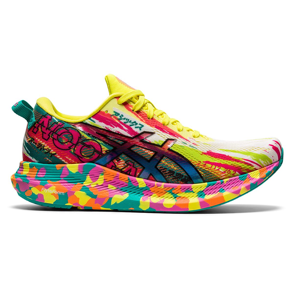 Women's Asics Noosa Tri 13 Running Shoe - Color: Hot Pink/Sour Yuzu - Size: 5 - Width: Regular, Hot Pink/Sour Yuzu, large, image 1