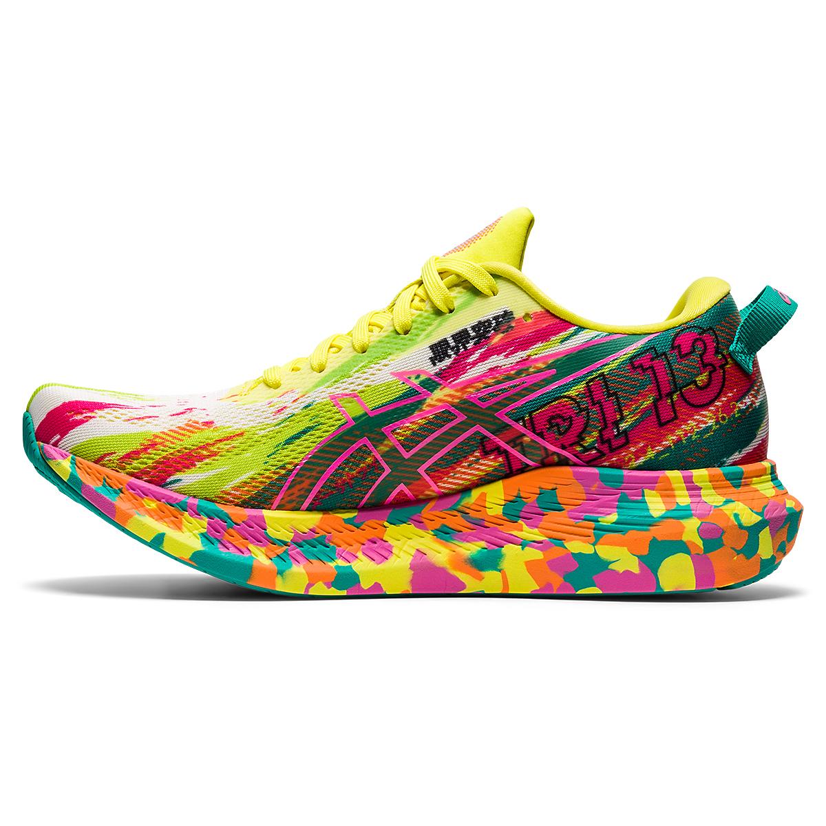 Women's Asics Noosa Tri 13 Running Shoe - Color: Hot Pink/Sour Yuzu - Size: 5 - Width: Regular, Hot Pink/Sour Yuzu, large, image 2
