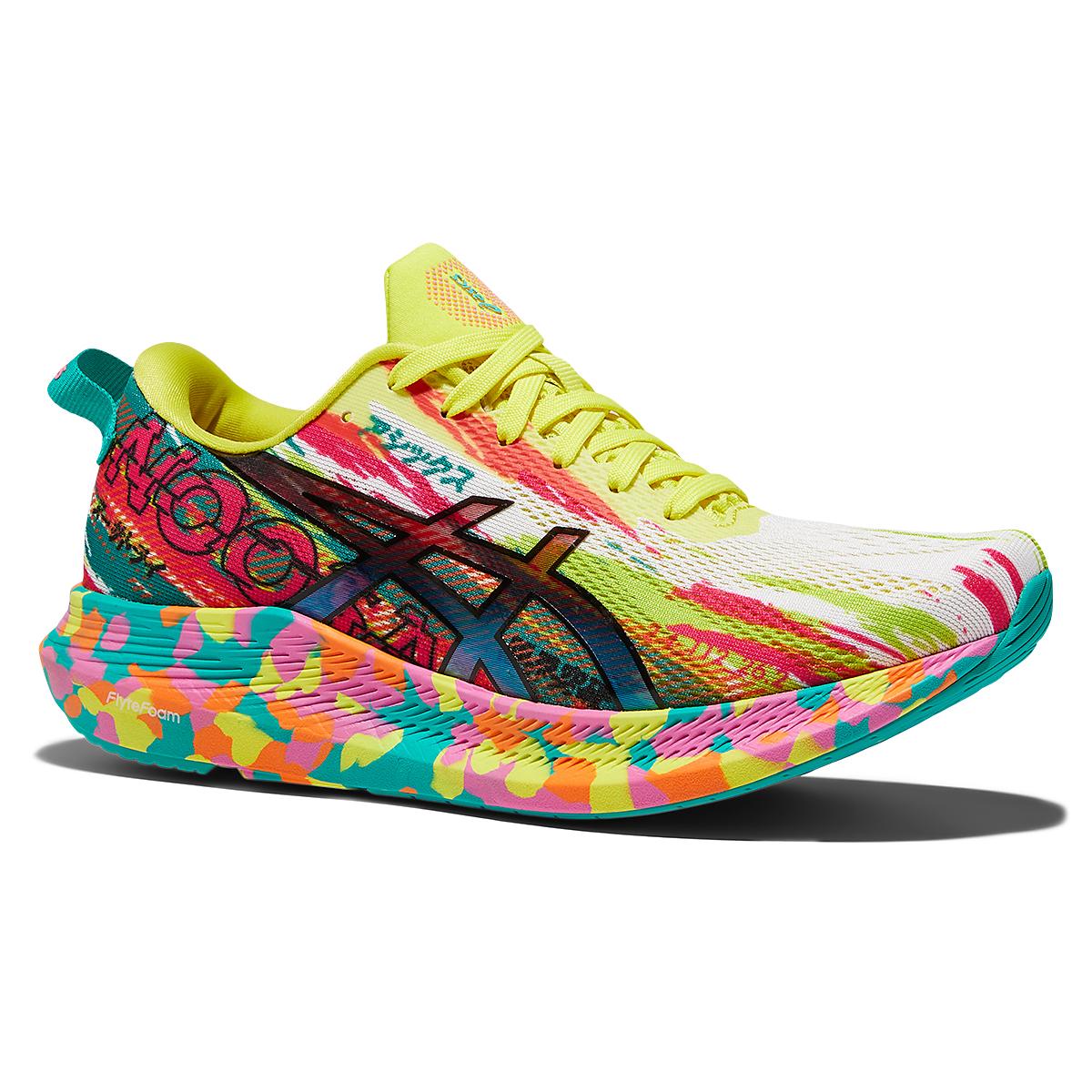 Women's Asics Noosa Tri 13 Running Shoe - Color: Hot Pink/Sour Yuzu - Size: 5 - Width: Regular, Hot Pink/Sour Yuzu, large, image 3