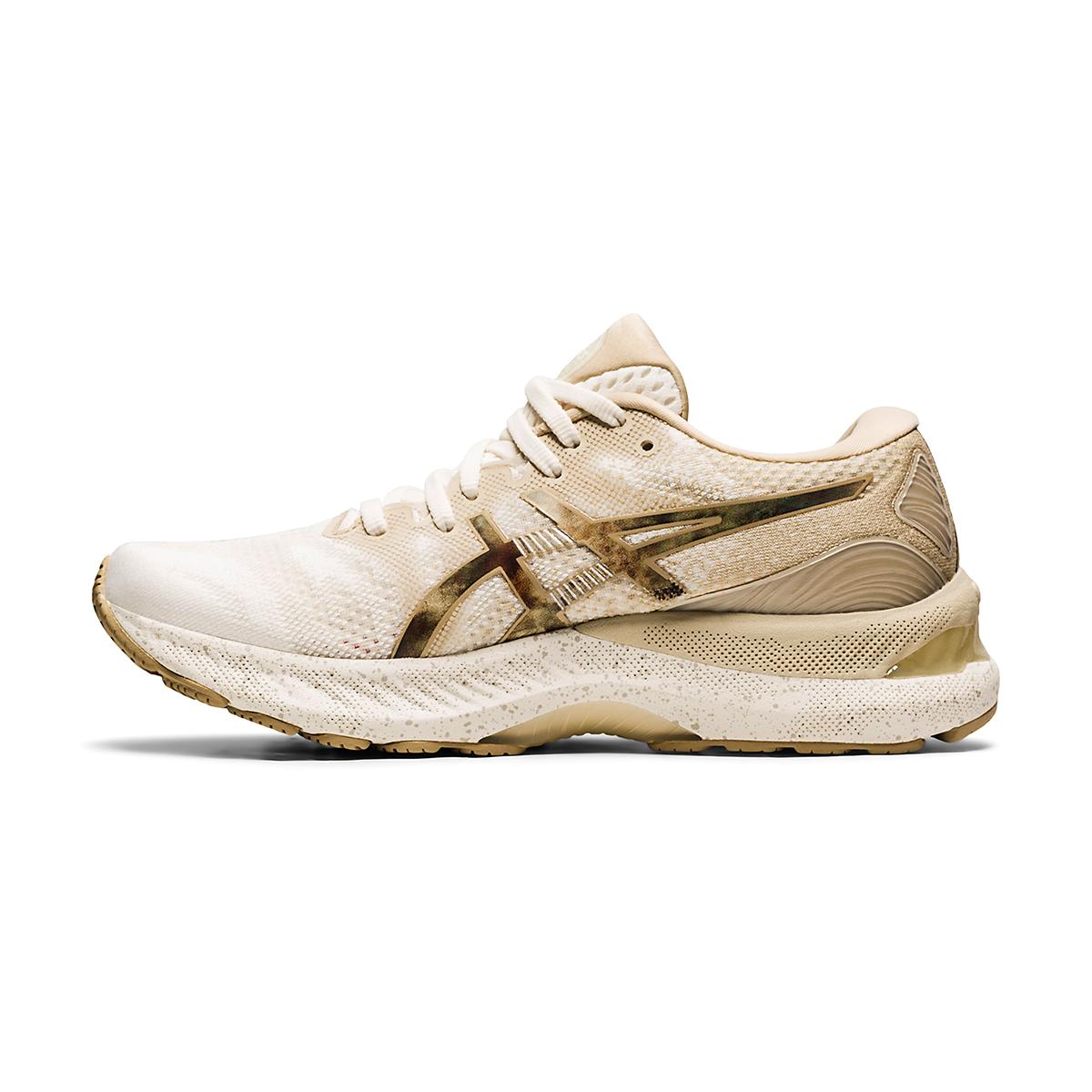 Women's Asics Gel-Nimbus 23 Earth Day Running Shoe - Color: Cream/Putty - Size: 5 - Width: Regular, Cream/Putty, large, image 2