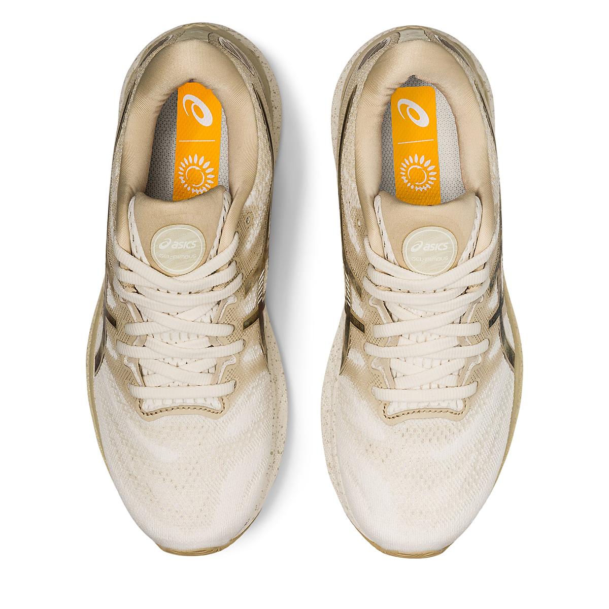Women's Asics Gel-Nimbus 23 Earth Day Running Shoe - Color: Cream/Putty - Size: 5 - Width: Regular, Cream/Putty, large, image 3