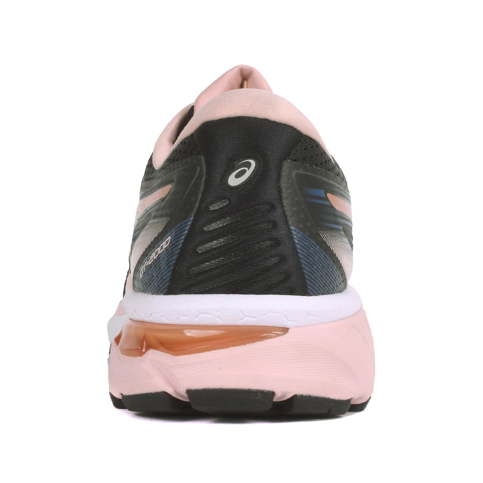 Women's Asics Gt-2000 8 Running Shoe - Color: Black/Blue/Rose Gold (Regular Width) - Size: 5, Black/Blue/Rose Gold, large, image 2