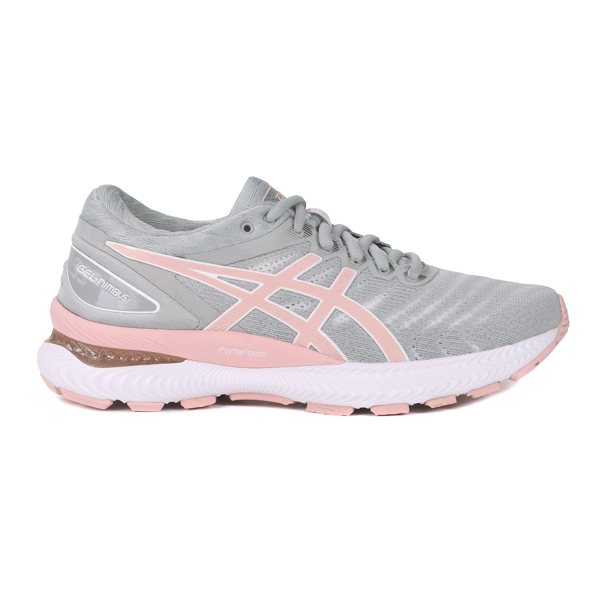 Women's Asics Gel-Nimbus 22 Running Shoe - Color: White/Rose Gold (Regular Width) - Size: 5, White, large, image 1