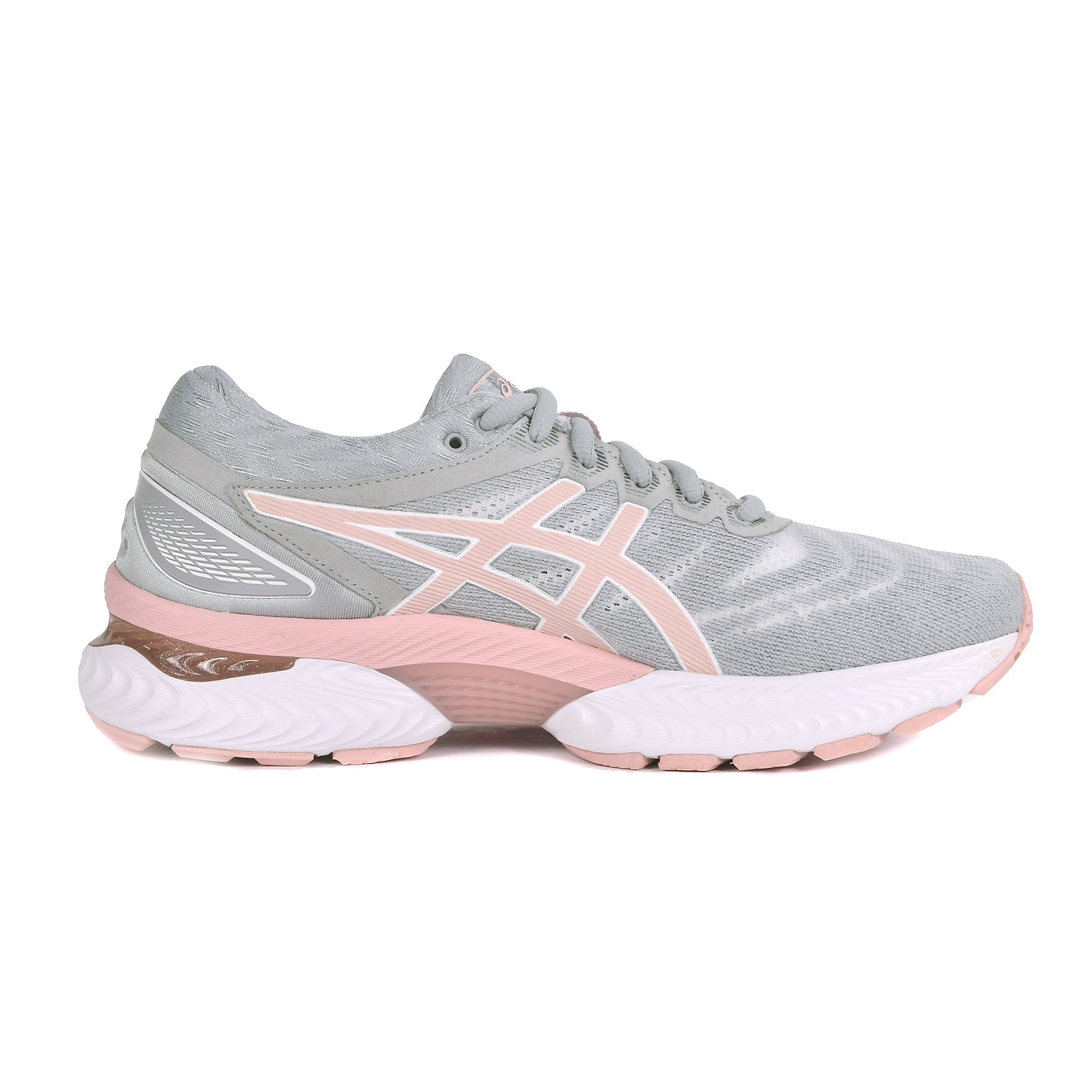 Women's Asics Gel-Nimbus 22 Running Shoe - Color: White/Rose Gold (Regular Width) - Size: 5, White, large, image 2