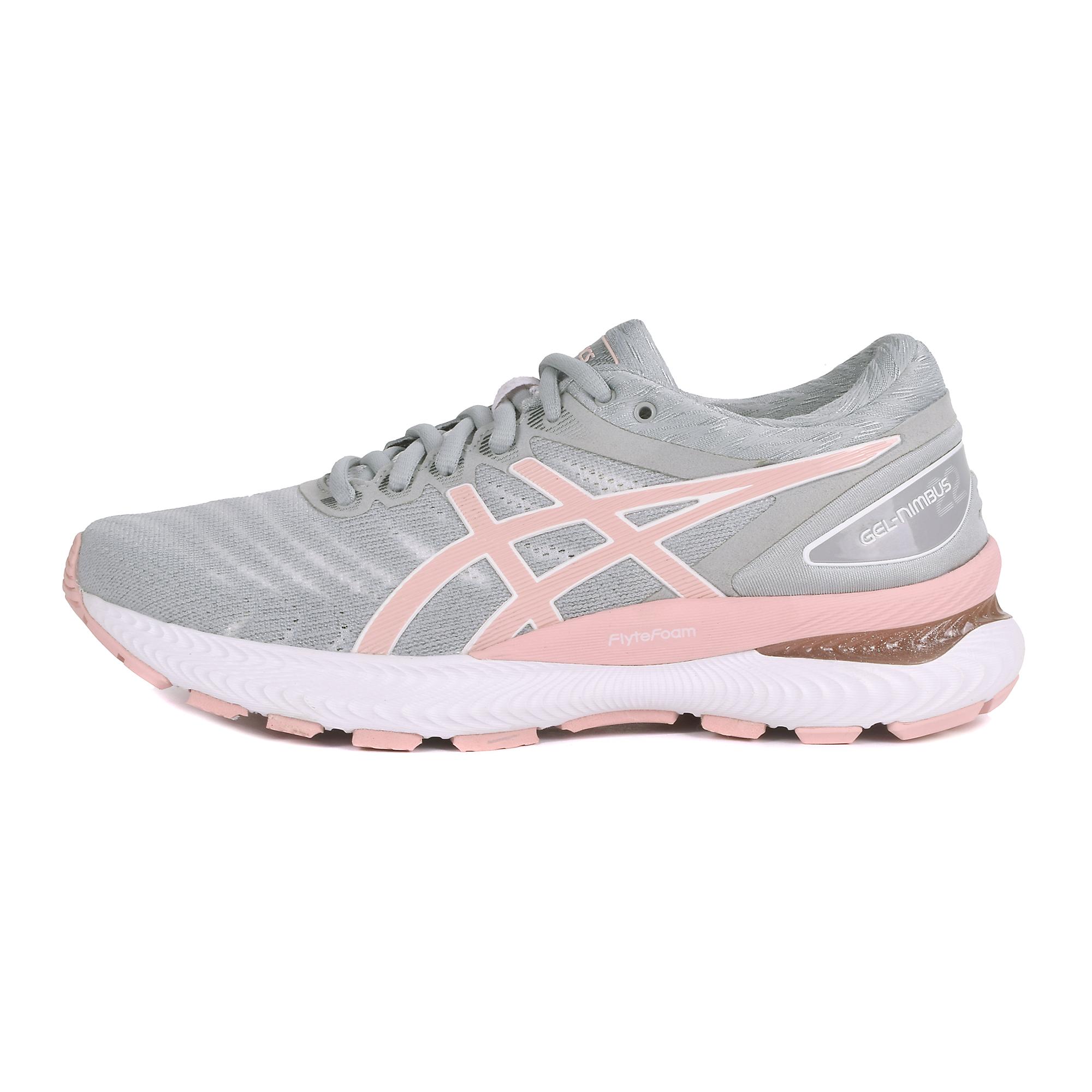 Women's Asics Gel-Nimbus 22 Running Shoe - Color: White/Rose Gold (Regular Width) - Size: 5, White, large, image 3