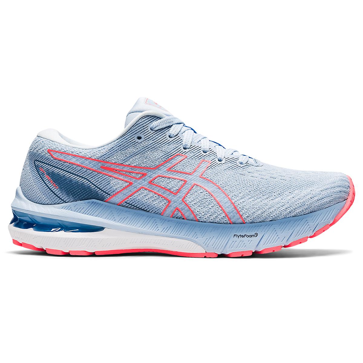 Women's Asics GT-2000 10 Running Shoe - Color: Mist/Blazing Coral - Size: 5 - Width: Regular, Mist/Blazing Coral, large, image 1