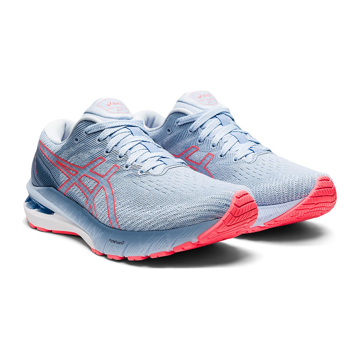 Women's Asics GT-2000 10 Running Shoe - Color: Mist/Blazing Coral - Size: 5 - Width: Regular, Mist/Blazing Coral, large, image 3