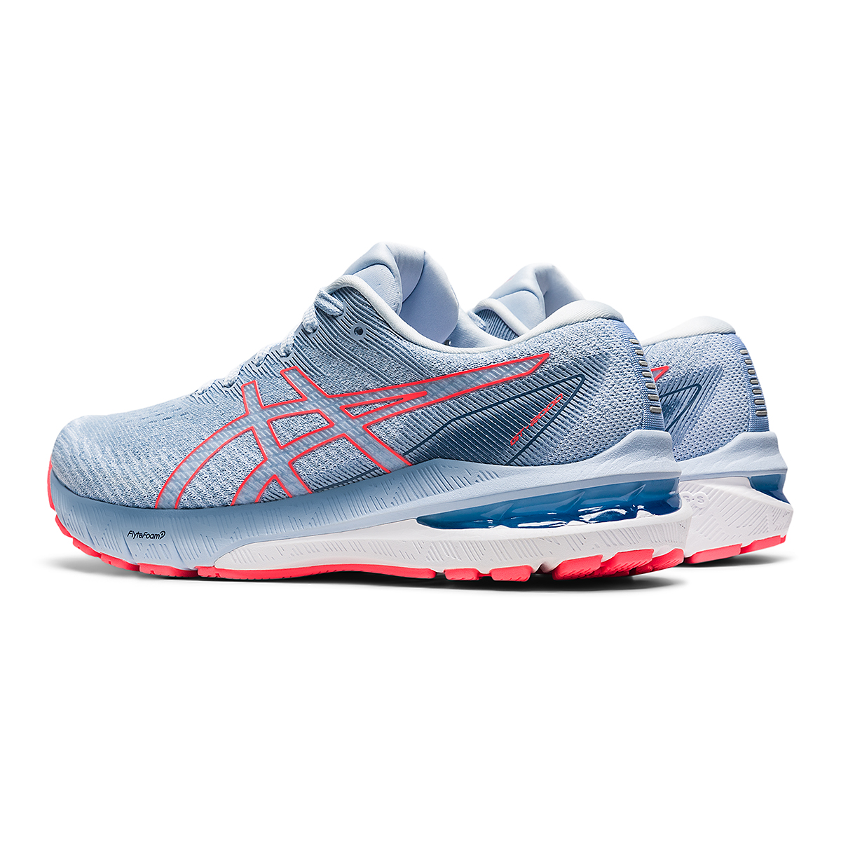 Women's Asics GT-2000 10 Running Shoe - Color: Mist/Blazing Coral - Size: 5 - Width: Regular, Mist/Blazing Coral, large, image 4