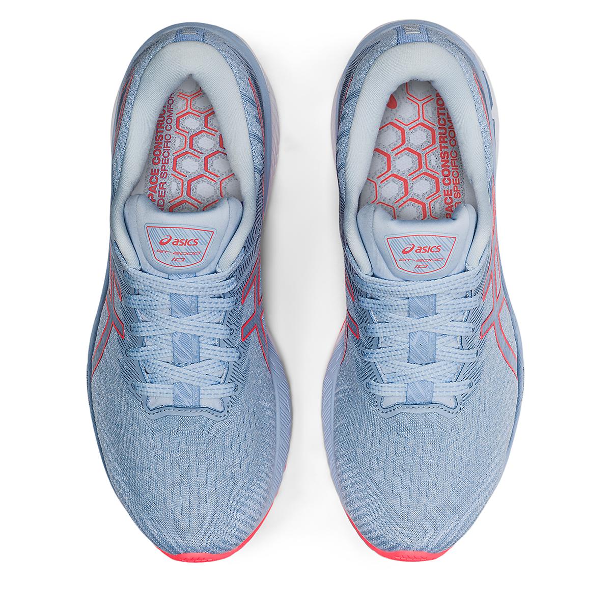 Women's Asics GT-2000 10 Running Shoe - Color: Mist/Blazing Coral - Size: 5 - Width: Regular, Mist/Blazing Coral, large, image 6