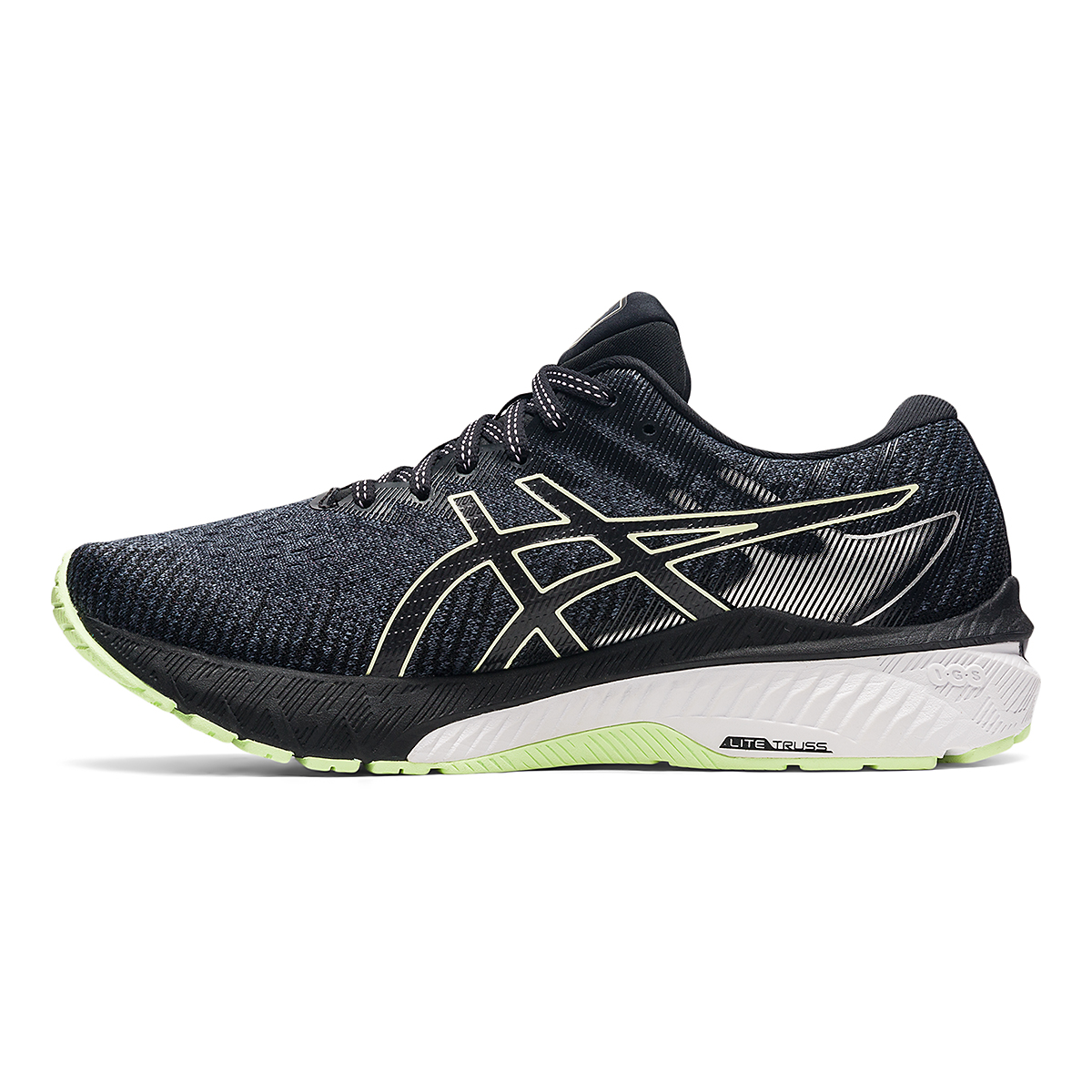 Women's Asics GT-2000 10 Running Shoe - Color: Soft Lavender/Black - Size: 5 - Width: Wide, Soft Lavender/Black, large, image 2