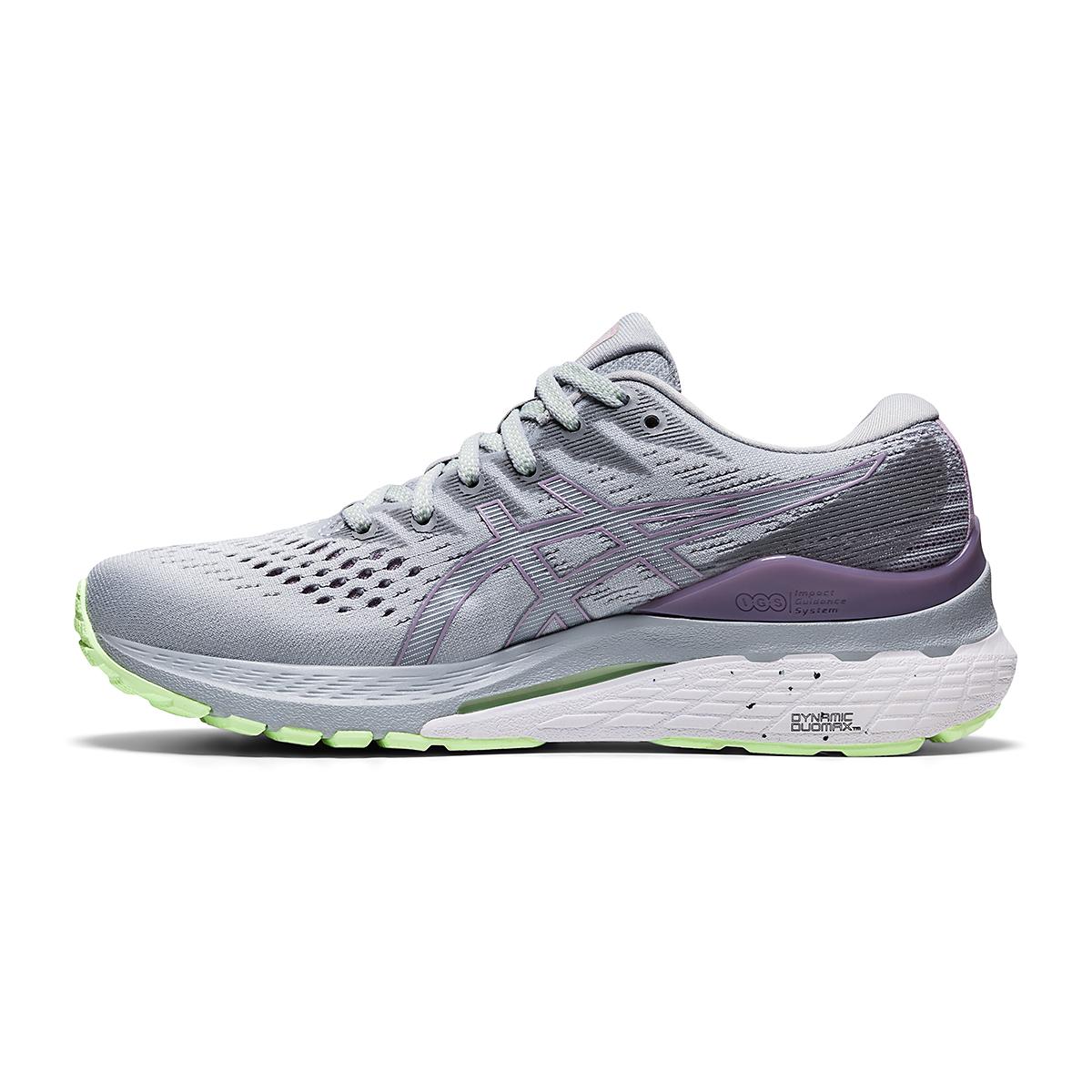Women's Asics Gel-Kayano 28 Running Shoe - Color: Piedmont Grey/Lavender - Size: 5 - Width: Regular, Piedmont Grey/Lavender, large, image 2