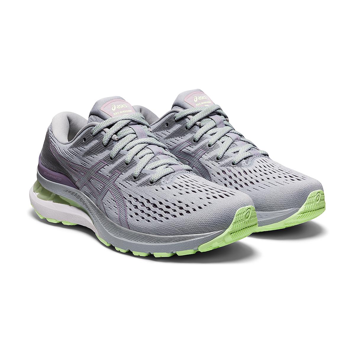 Women's Asics Gel-Kayano 28 Running Shoe - Color: Piedmont Grey/Lavender - Size: 5 - Width: Regular, Piedmont Grey/Lavender, large, image 3