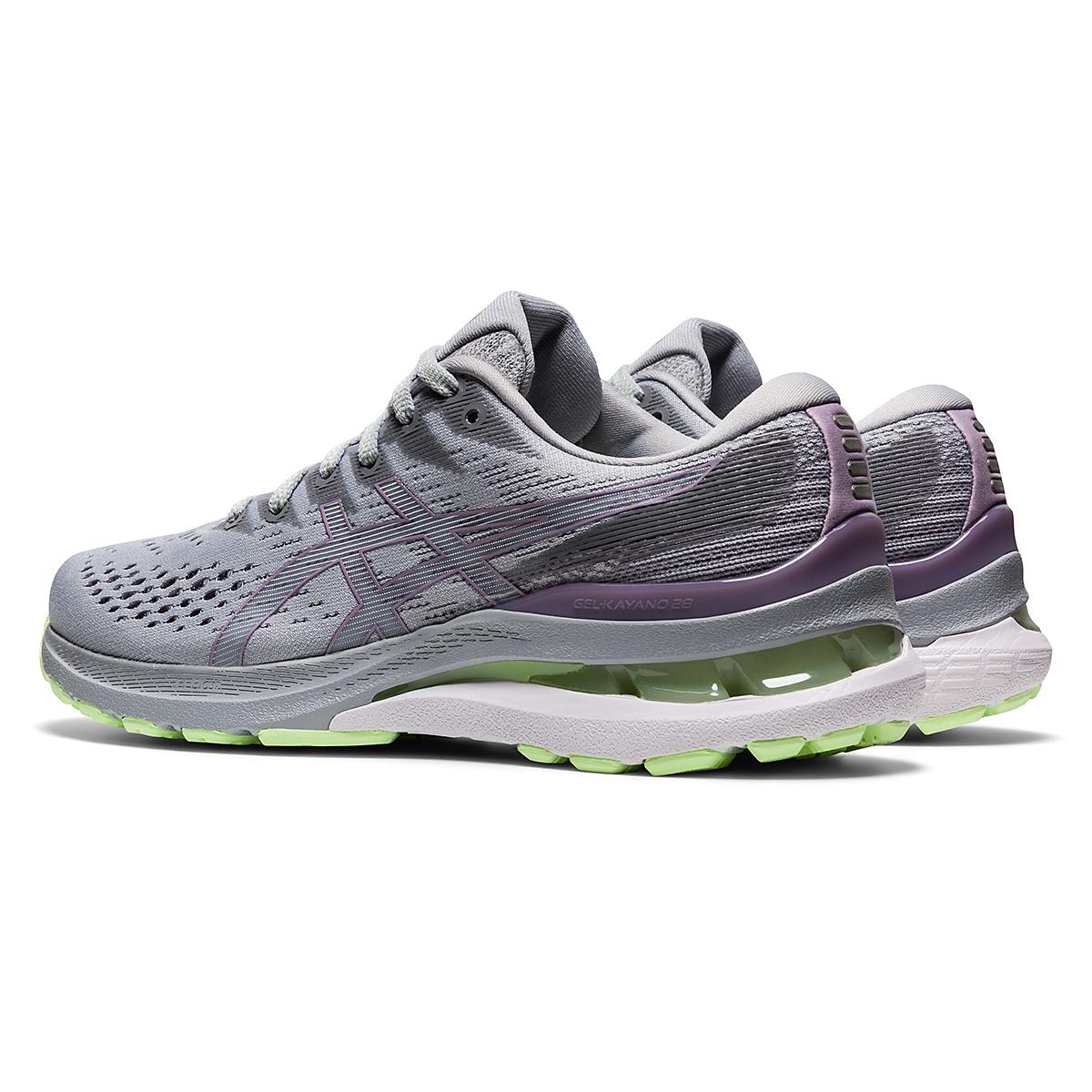 Women's Asics Gel-Kayano 28 Running Shoe - Color: Piedmont Grey/Lavender - Size: 5 - Width: Regular, Piedmont Grey/Lavender, large, image 4