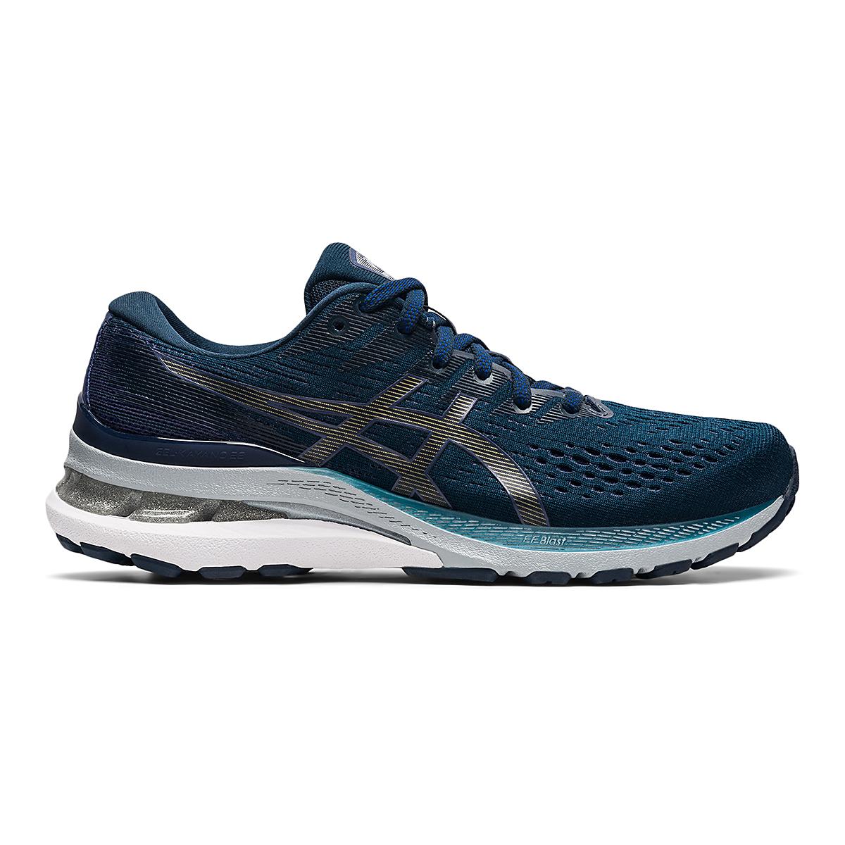 Women's Asics Gel-Kayano 28 Running Shoe - Color: French Blue/Thunder Blue - Size: 5 - Width: Wide, French Blue/Thunder Blue, large, image 1