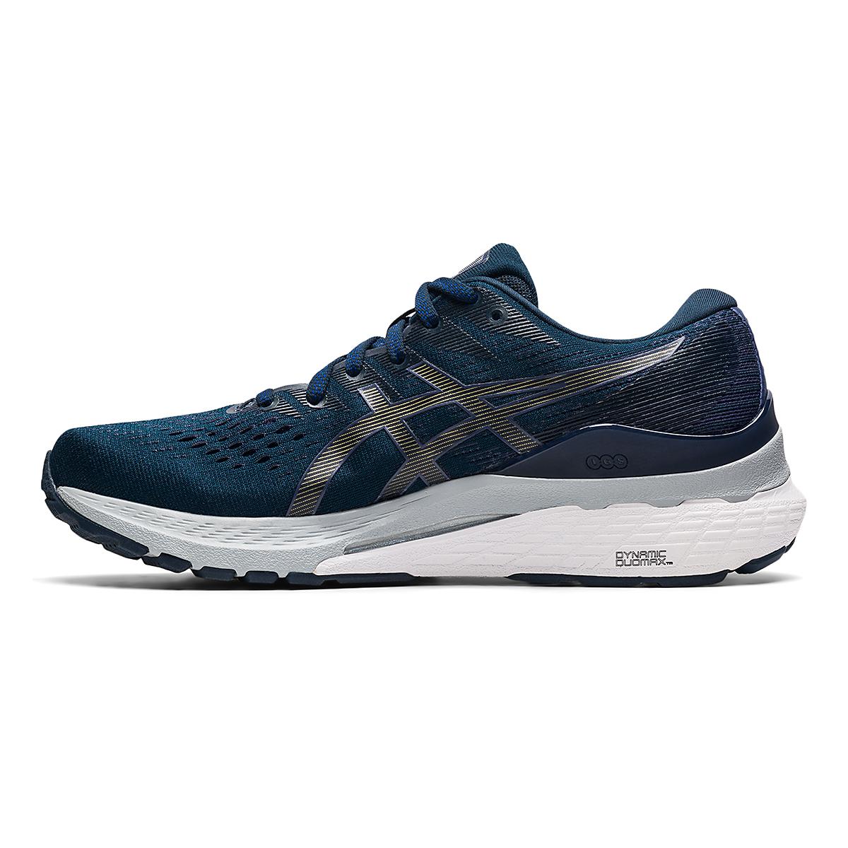 Women's Asics Gel-Kayano 28 Running Shoe - Color: French Blue/Thunder Blue - Size: 5 - Width: Wide, French Blue/Thunder Blue, large, image 2