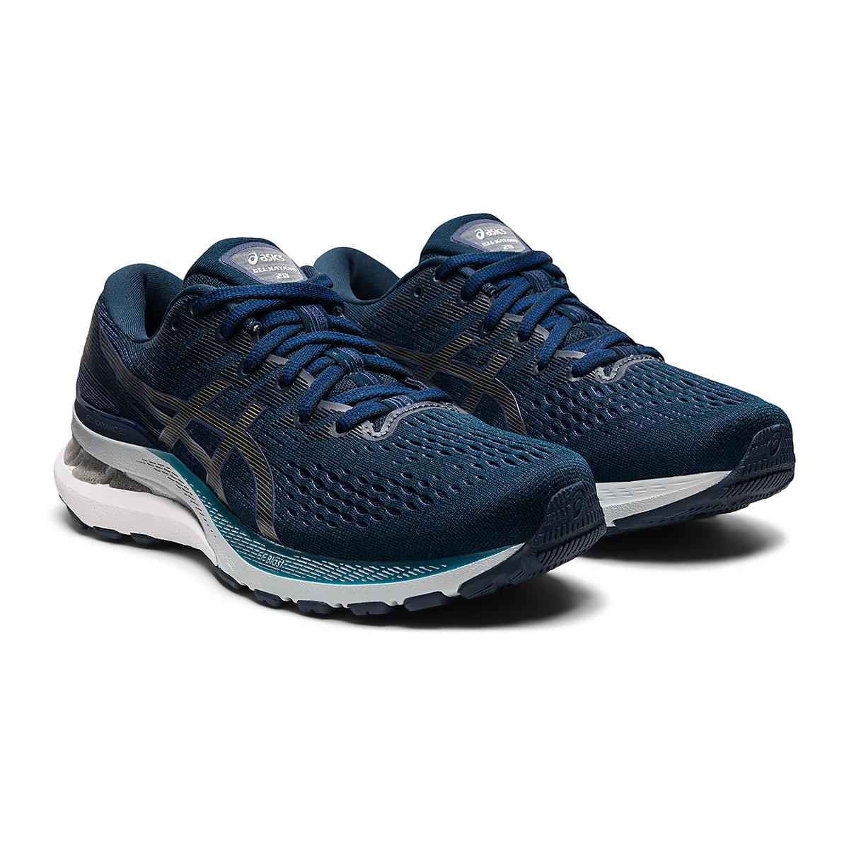 Women's Asics Gel-Kayano 28 Running Shoe - Color: French Blue/Thunder Blue - Size: 5 - Width: Wide, French Blue/Thunder Blue, large, image 3