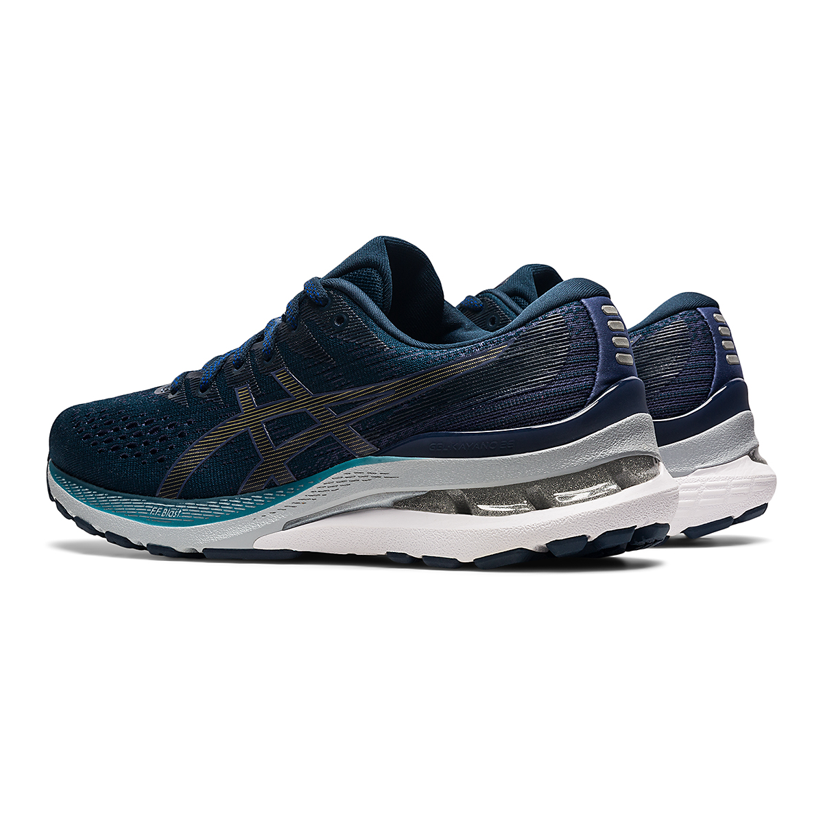 Women's Asics Gel-Kayano 28 Running Shoe - Color: French Blue/Thunder Blue - Size: 5 - Width: Wide, French Blue/Thunder Blue, large, image 4