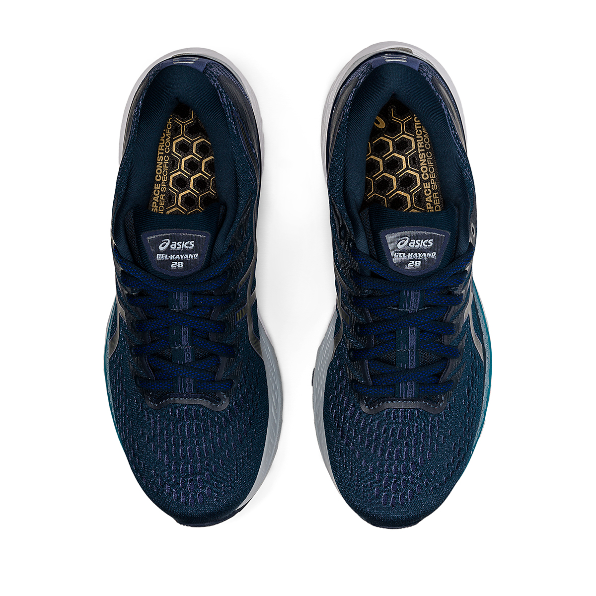 Women's Asics Gel-Kayano 28 Running Shoe - Color: French Blue/Thunder Blue - Size: 5 - Width: Wide, French Blue/Thunder Blue, large, image 5