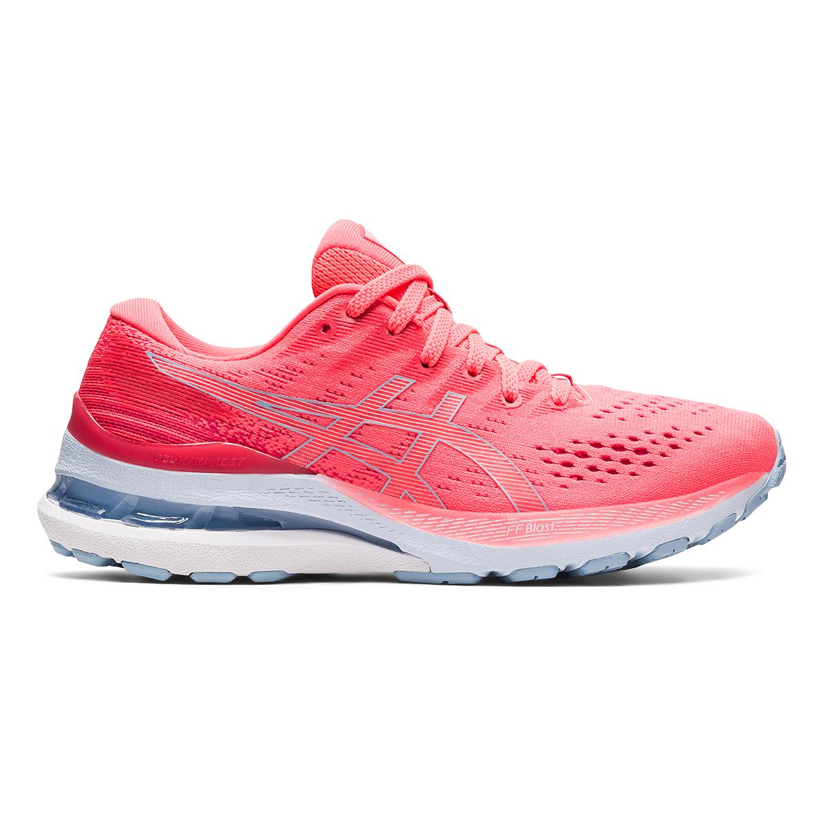 Women's Asics Gel-Kayano 28 Running Shoe - Color: Blazing Coral - Size: 5 - Width: Regular, Blazing Coral, large, image 1
