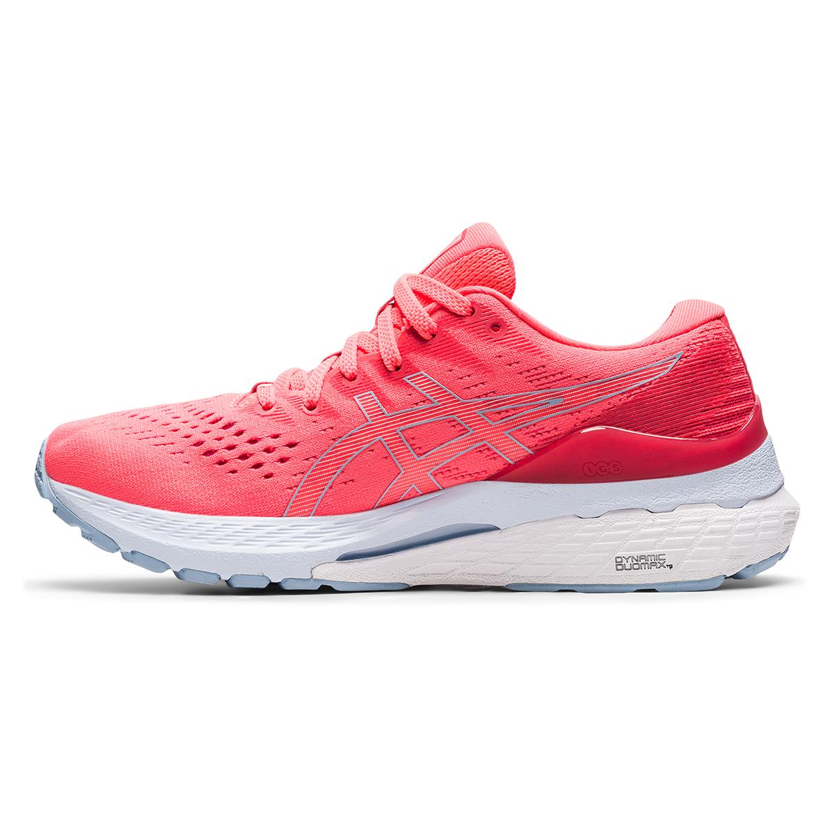 Women's Asics Gel-Kayano 28 Running Shoe - Color: Blazing Coral - Size: 5 - Width: Regular, Blazing Coral, large, image 2